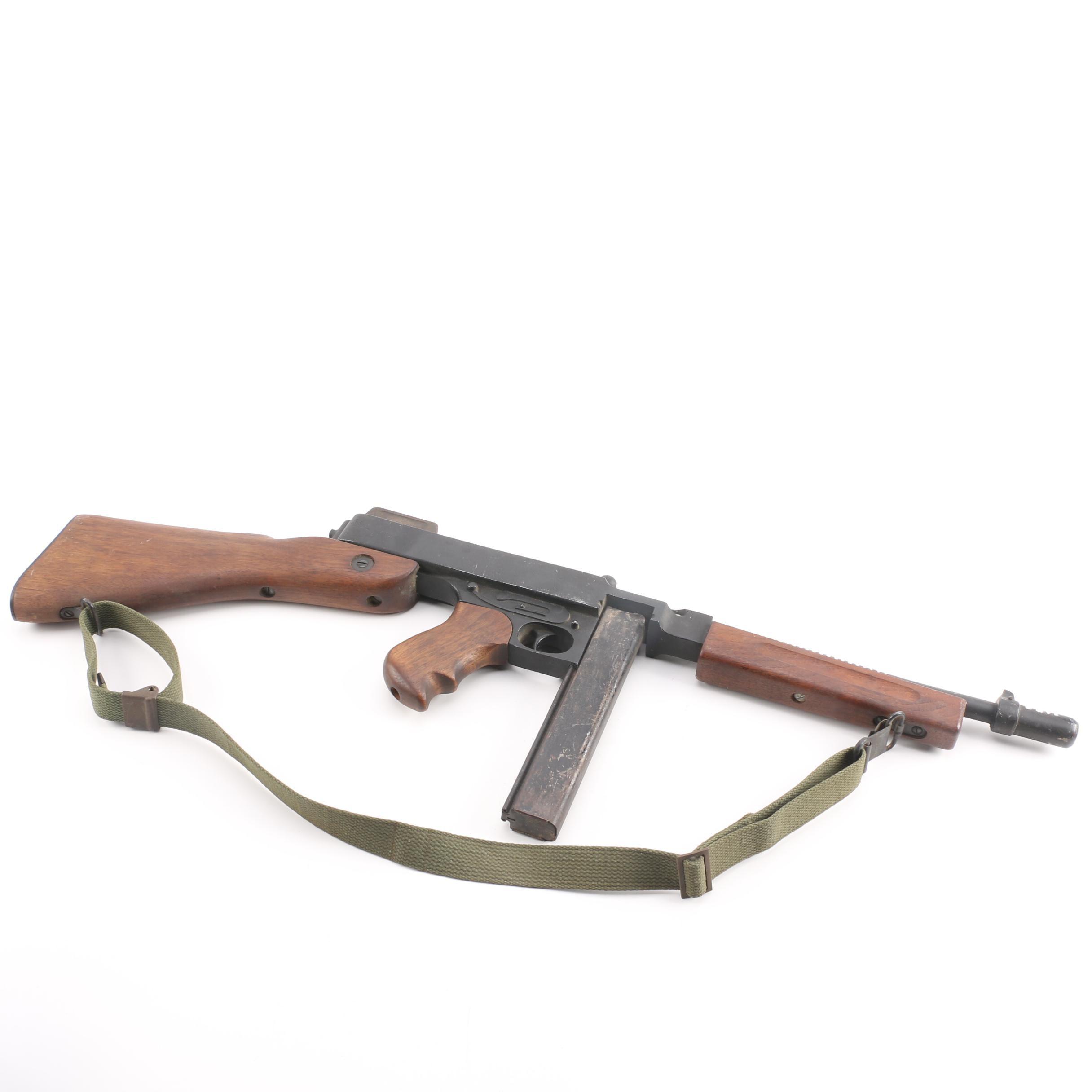 Non-Functioning Replica of a Prohibition Era Thompson Submachine Gun