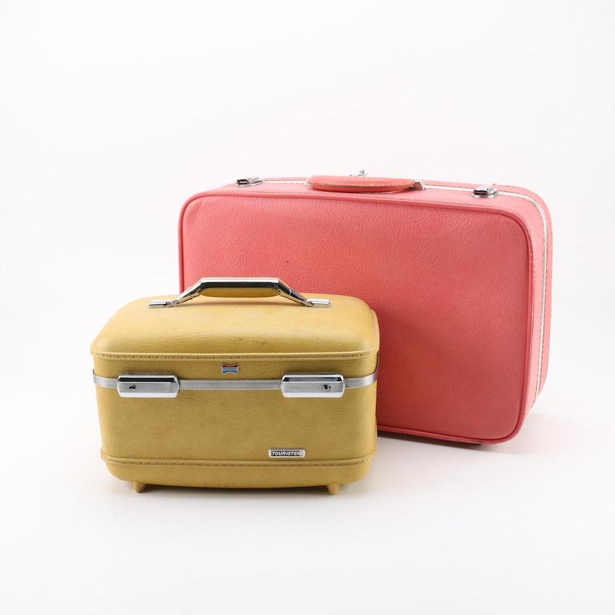 419b4da6153 Vintage U.S. Trunk Co. Citation Suitcase and American Tourister Train Case    EBTH