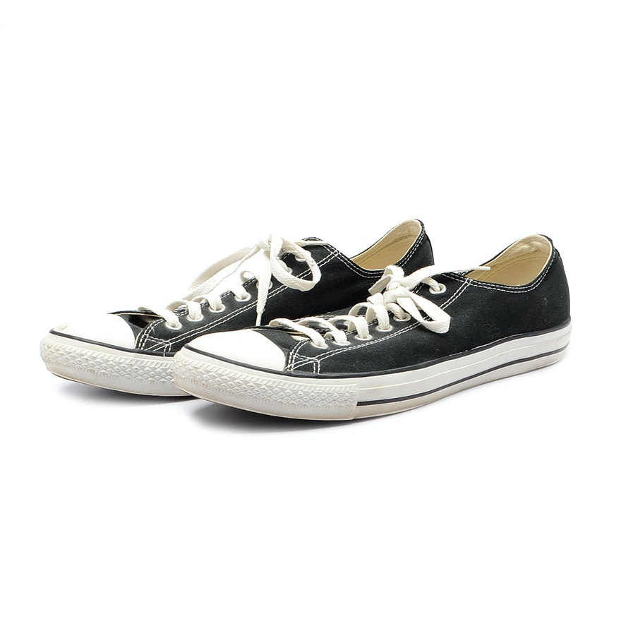 dd64af177aa1 Unisex Black and White Converse All Star Gym Shoes   EBTH