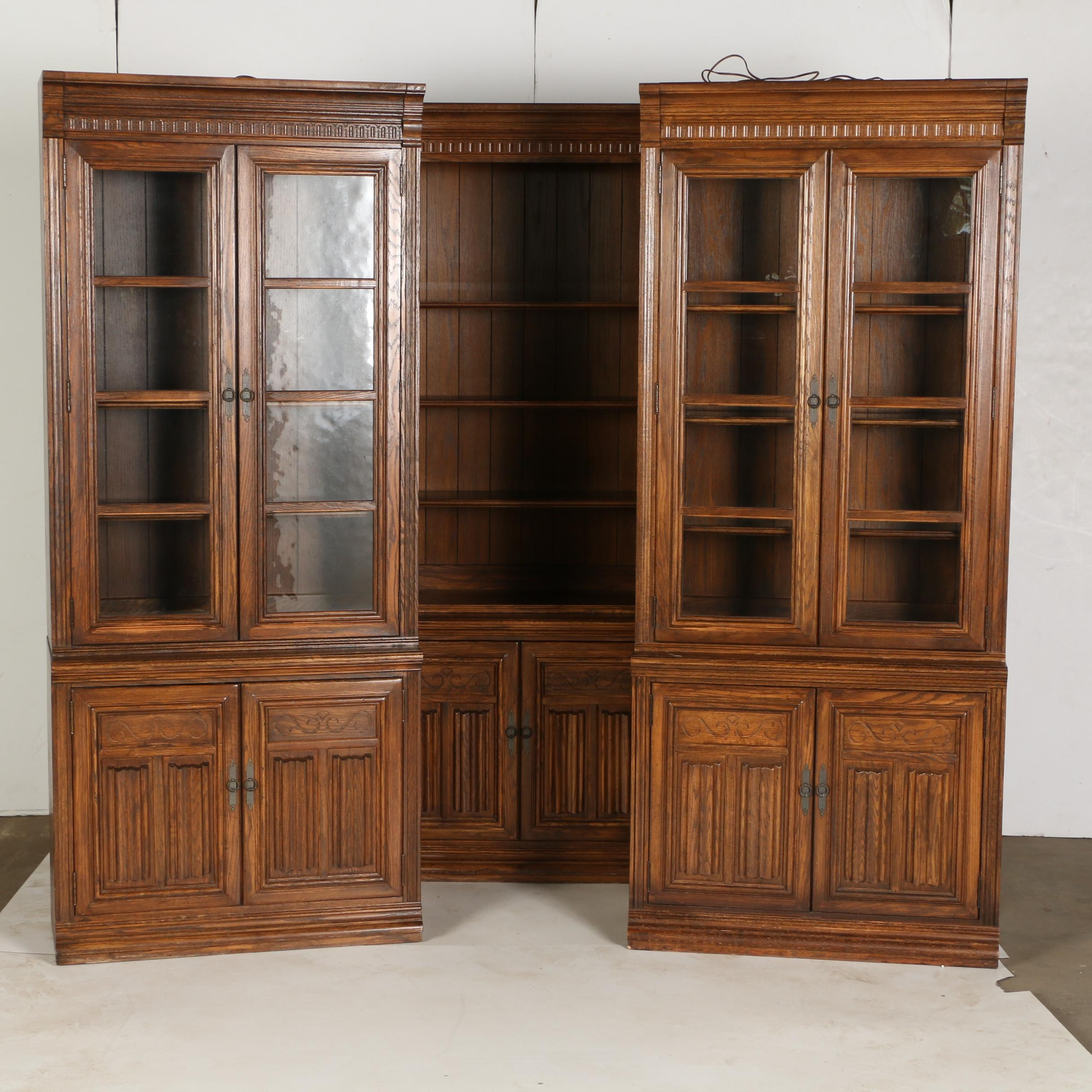Oak Bookcase Cabinets