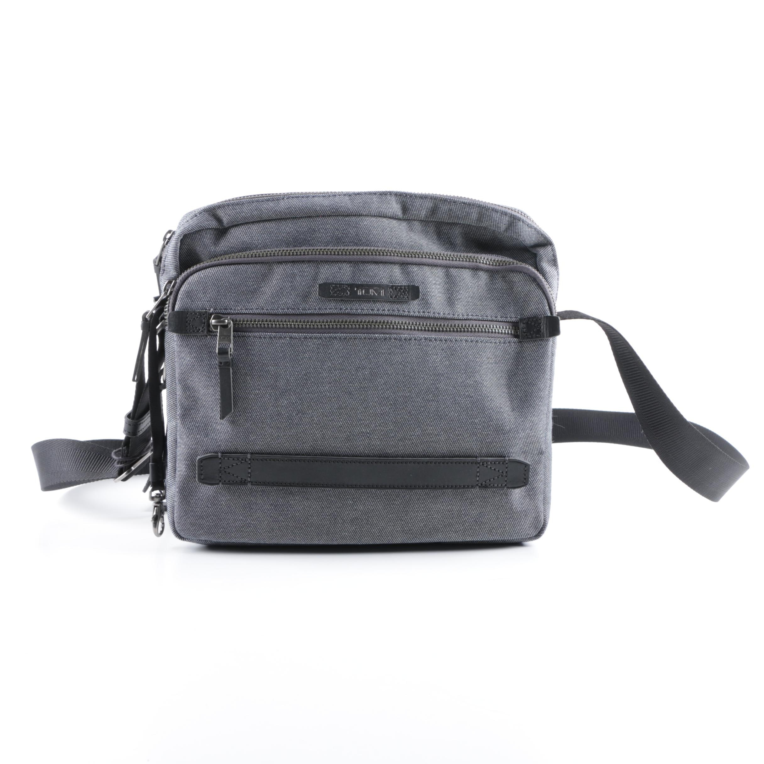 Tumi Grey Canvas Crossbody Bag