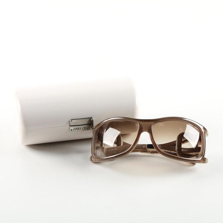 6c6cc7c24933 Jimmy Choo JJ S Wrap Sunglasses with Case   EBTH