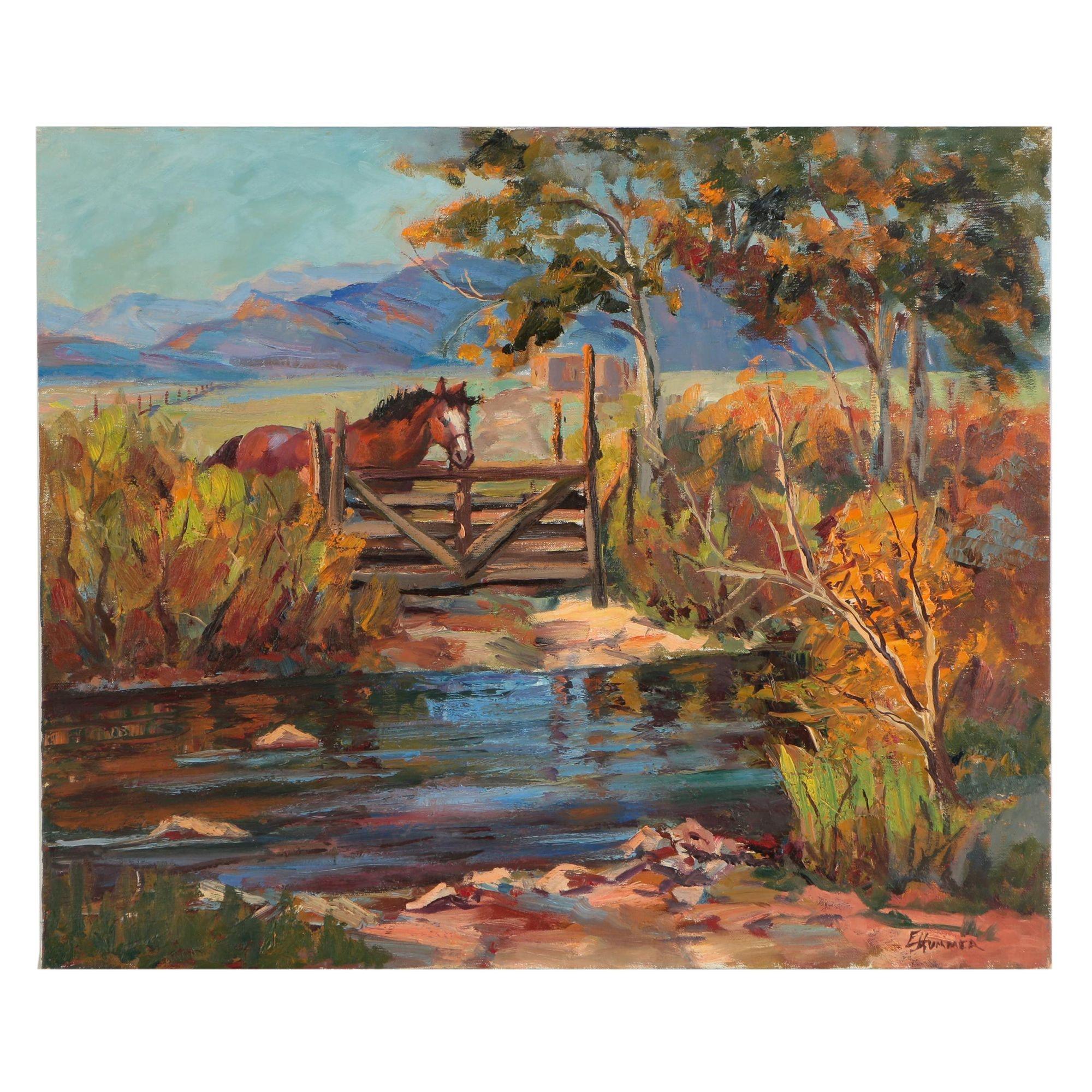 Edward J. Hummer Oil Painting