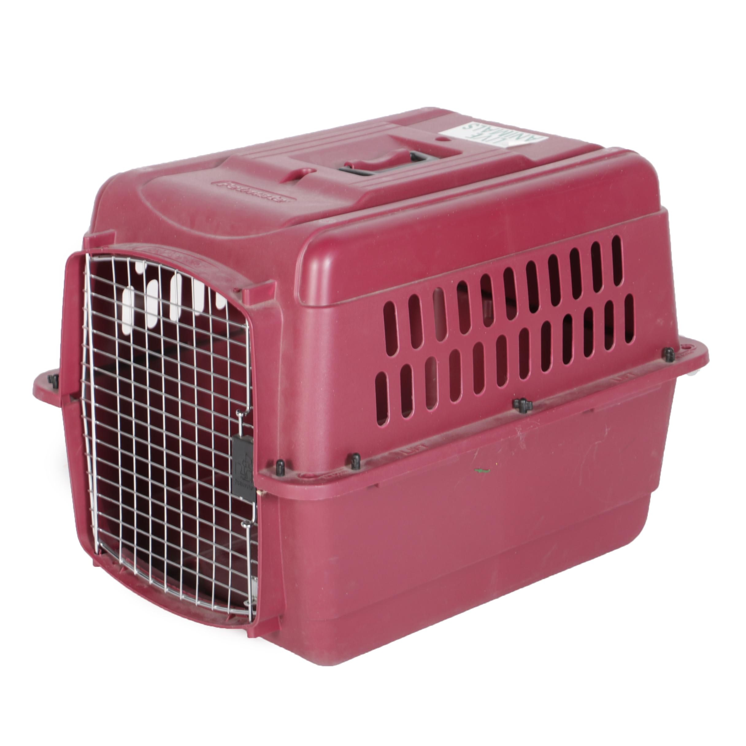 Petmate High Impact Pink Plastic Travel Kennel