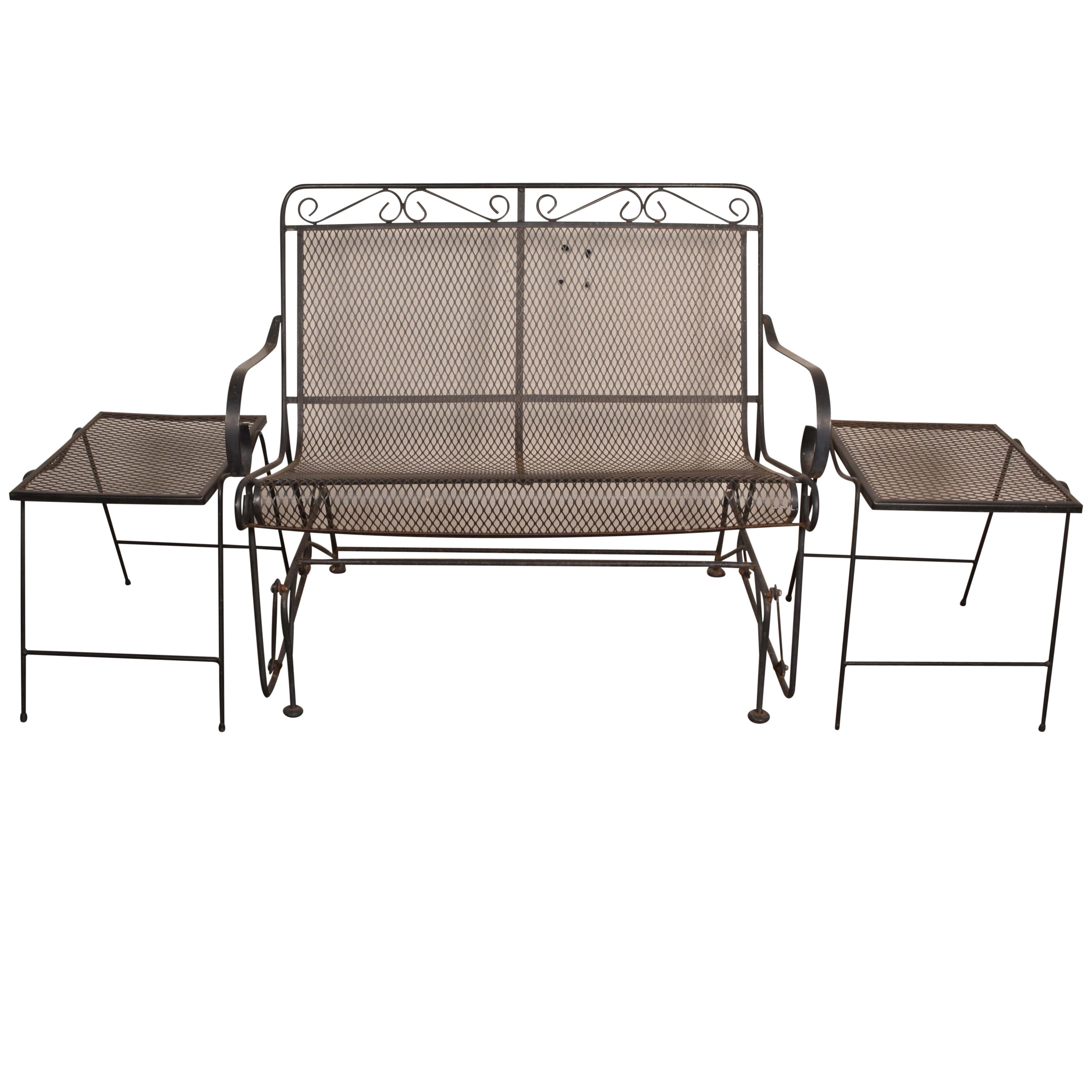 Salterini Patio Glider And Two Accent Tables ...
