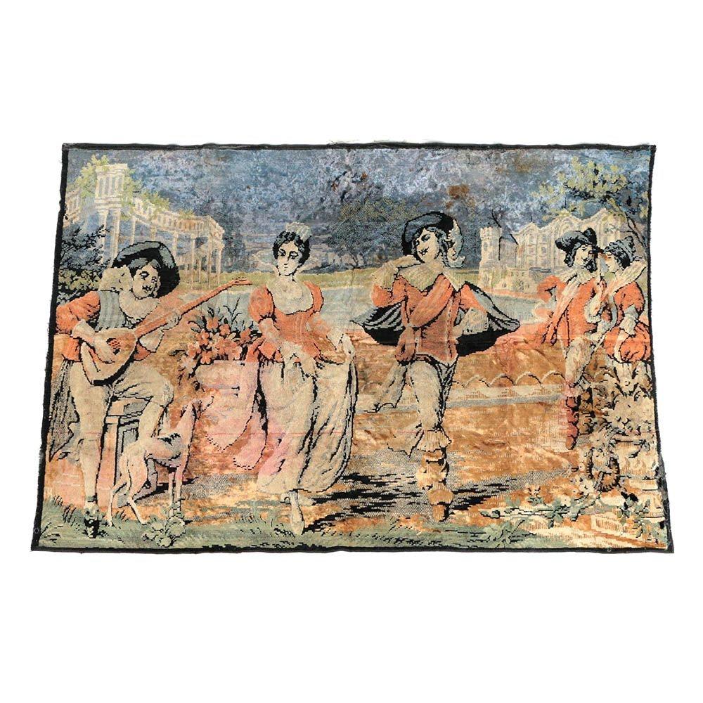 Vintage Pictorial Tapestry