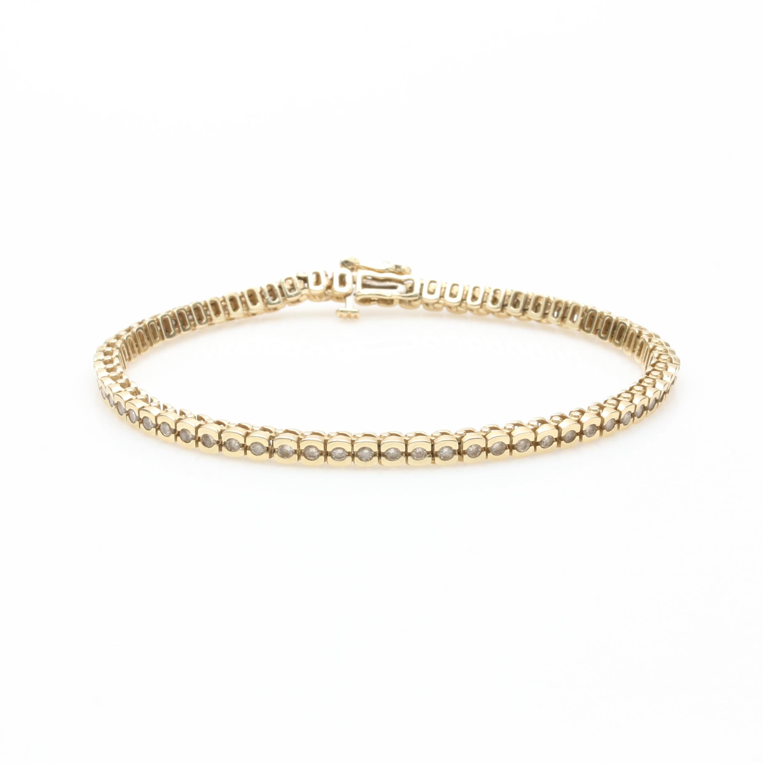 14K Yellow Gold 1.95 CTW Diamond Bracelet