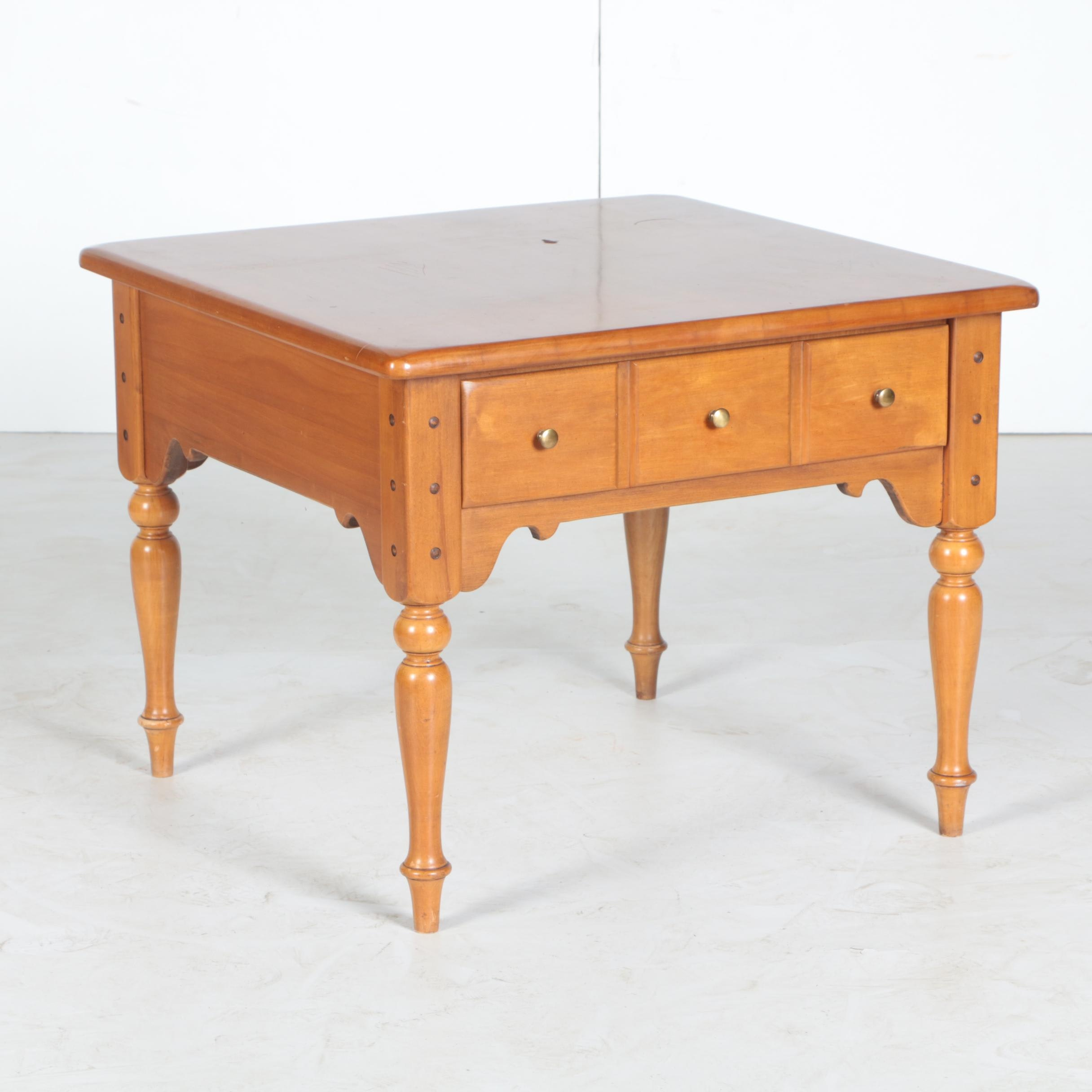 Colonial Style Maple End Table by Thomasville