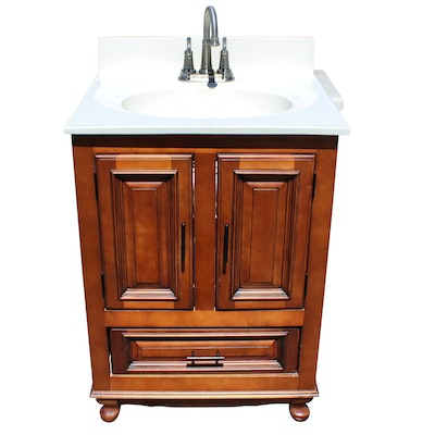 Price Pfister Sink and Bathroom Vanity - Online Furniture Auctions Vintage Furniture Auction Antique
