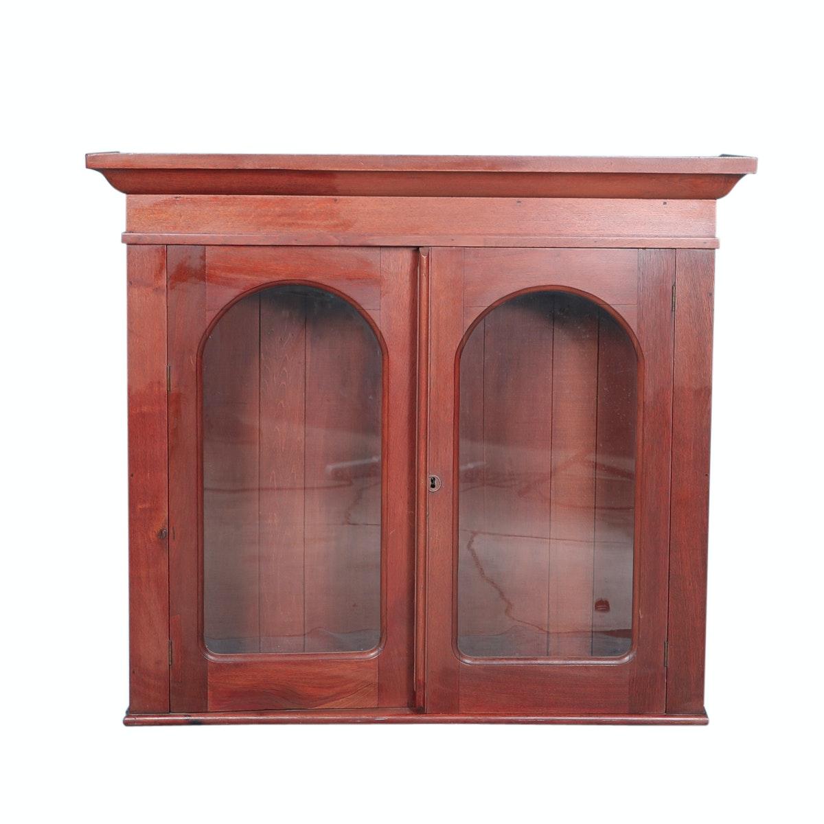 Antique Mahogany Hanging Cabinet
