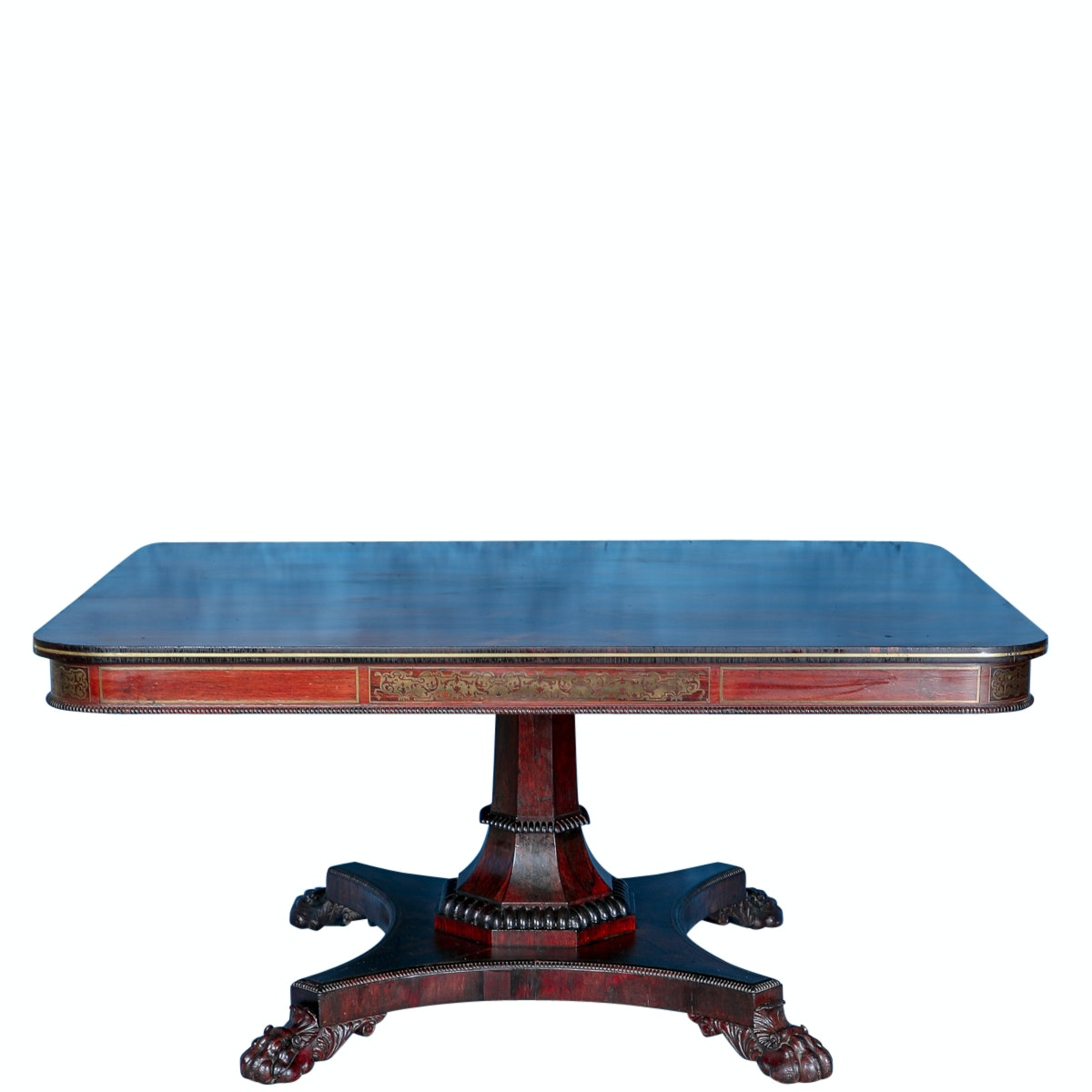 Regency Brass Mounted Rosewood Center Table, Circa 1815, Ex-Warner Brothers