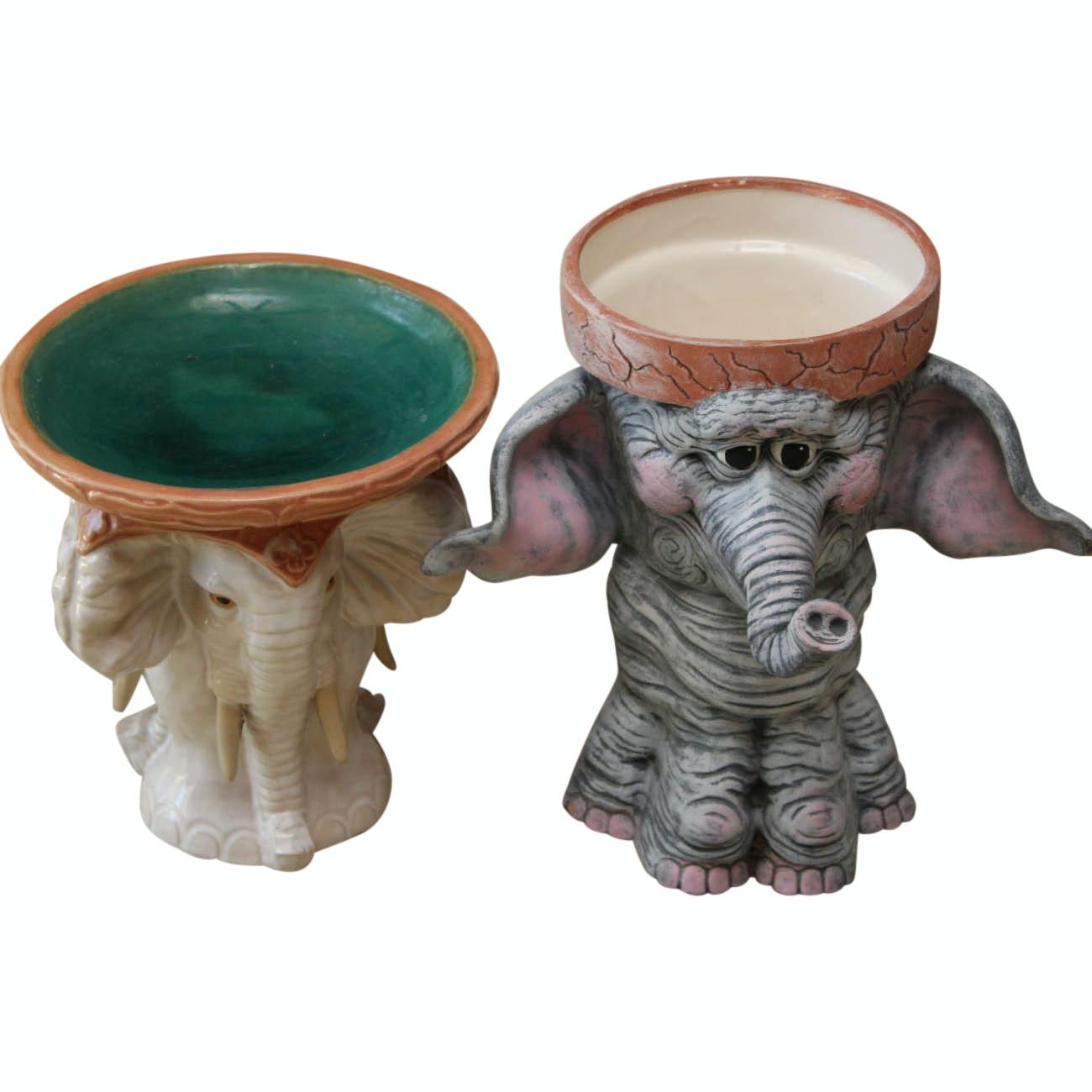 Figural Elephant Planters