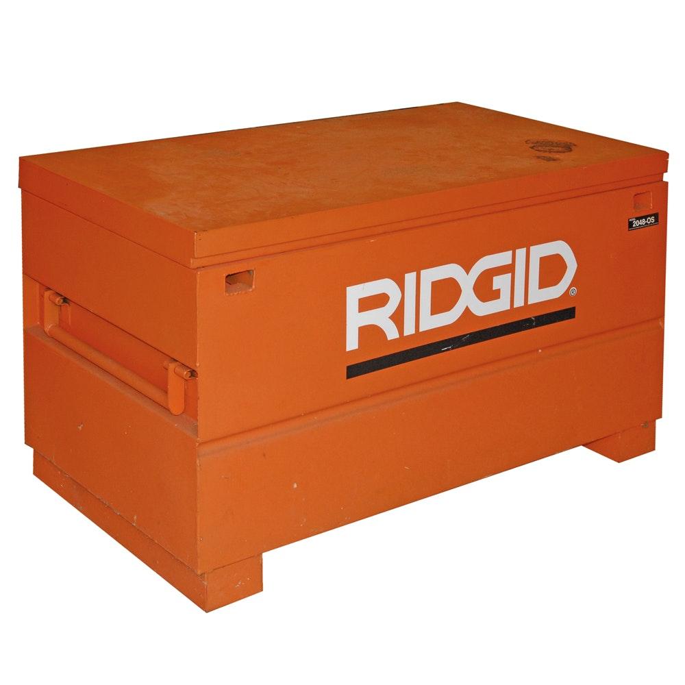 Ridgid Model 2048-0S On-Site Tool Storage Chest with Cord Pass-Thru