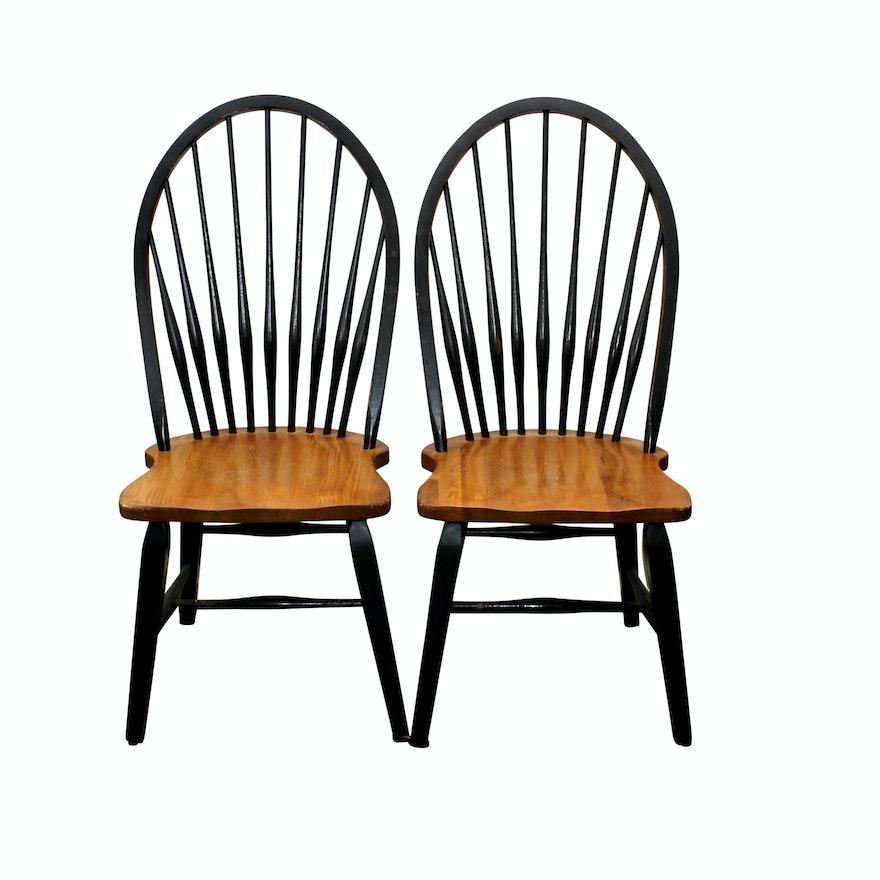 Vintage Wooden Peg Leg Chairs