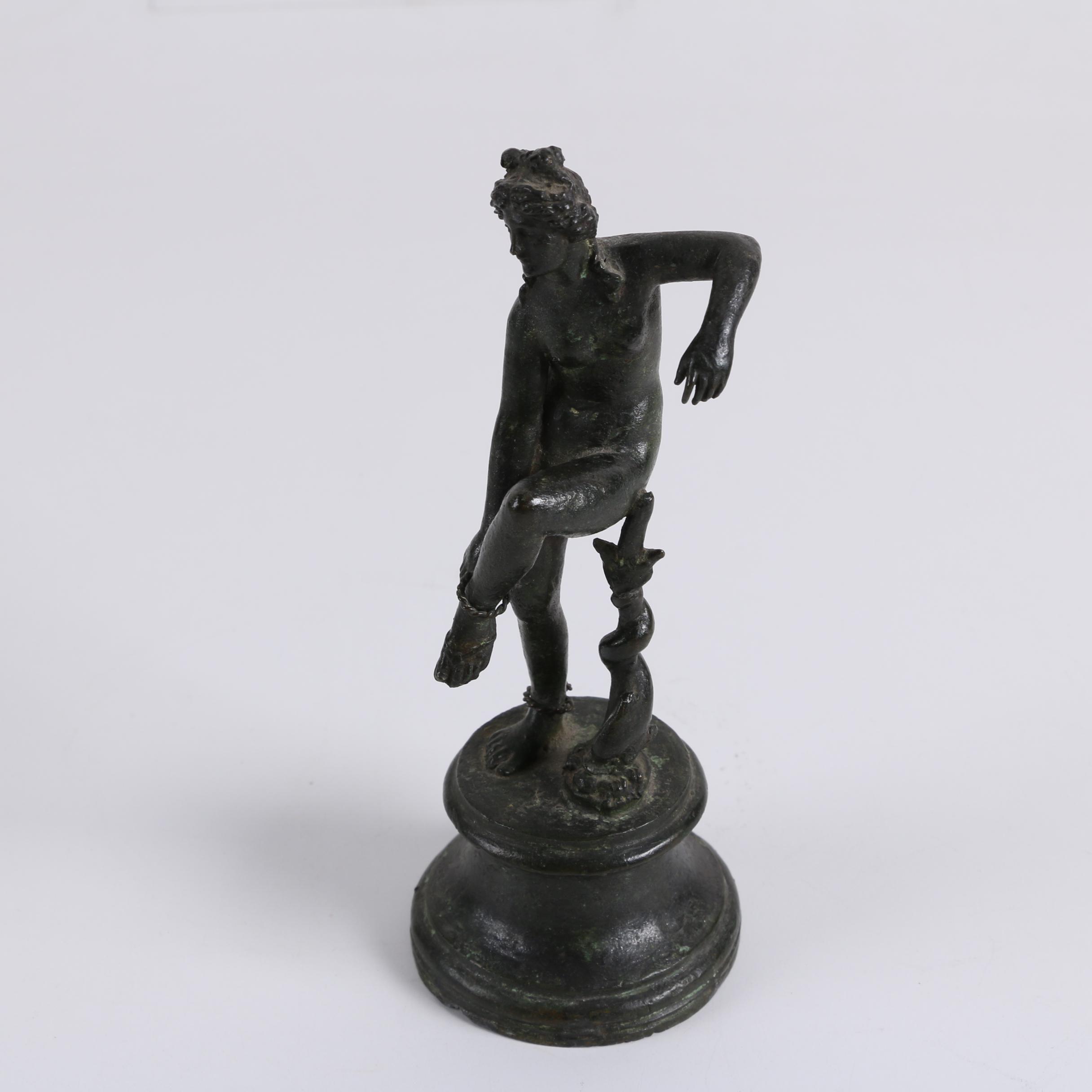 Vintage Classical Style Cast Metal Statuette