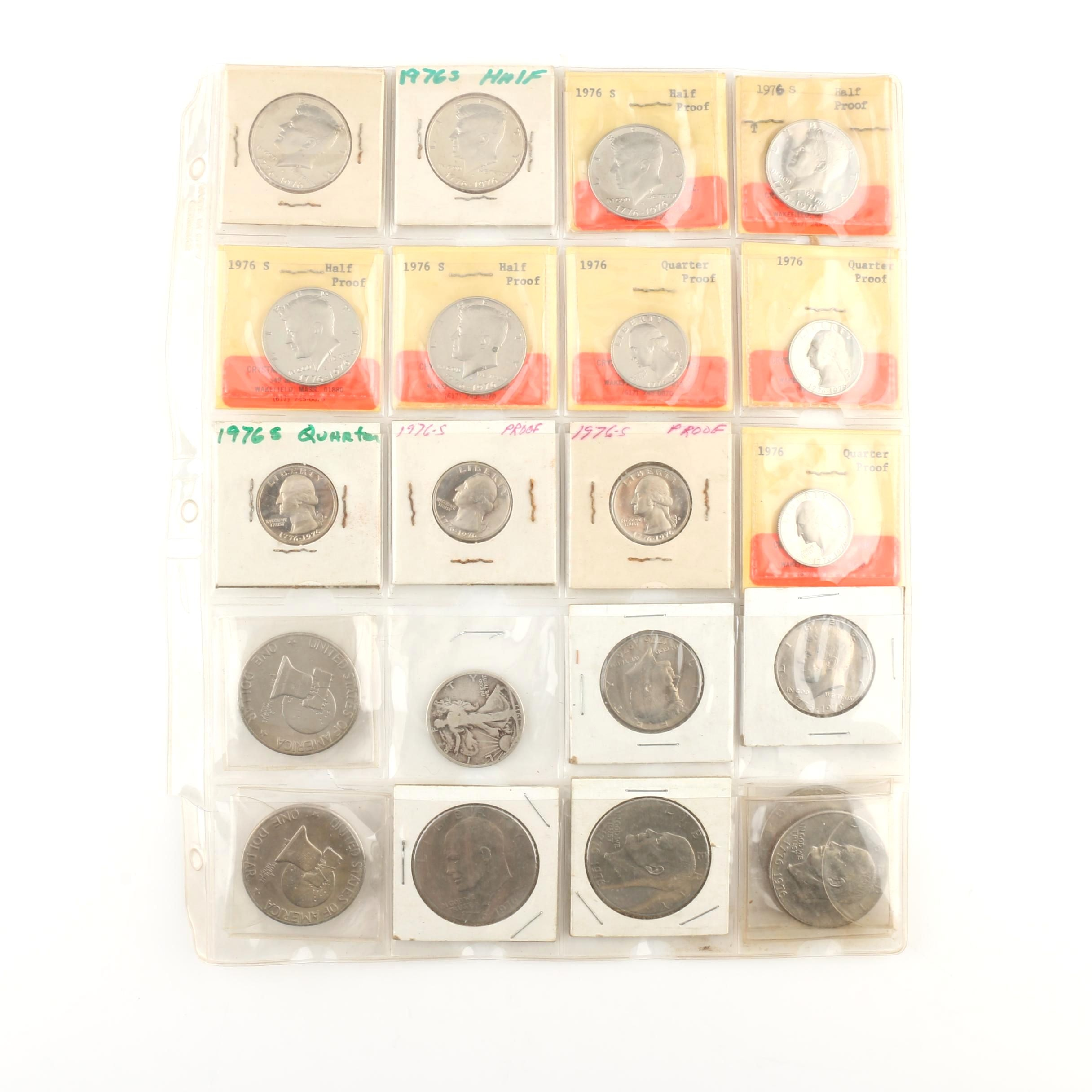 Album Page of Vintage U.S. Coins