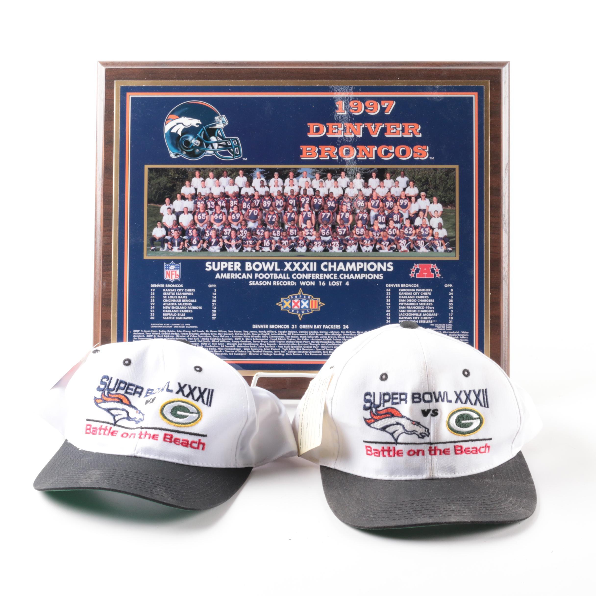 Denver Broncos Super Bowl XXXII Memorabilia