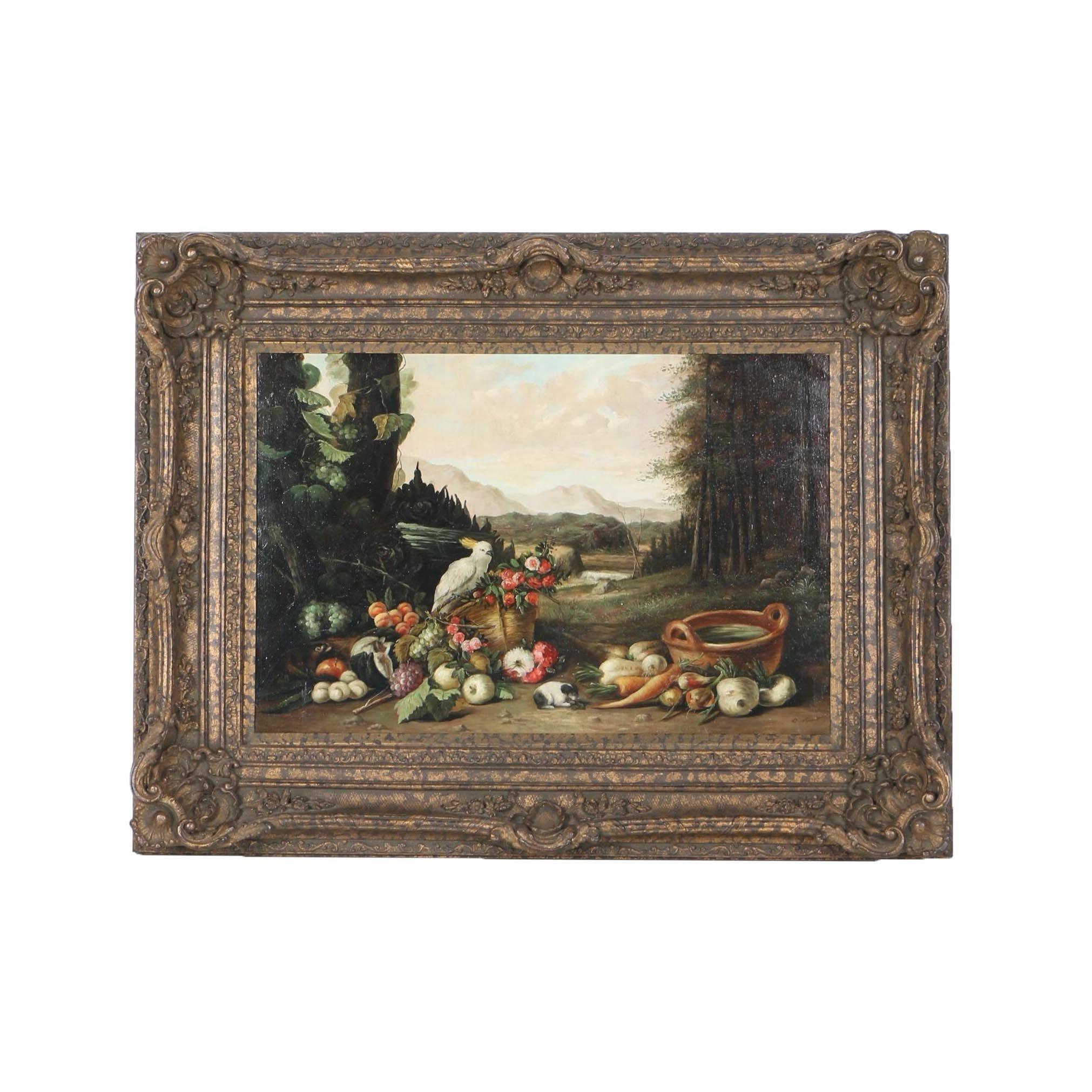 D. Stuart Still Life Oil Painting on Canvas