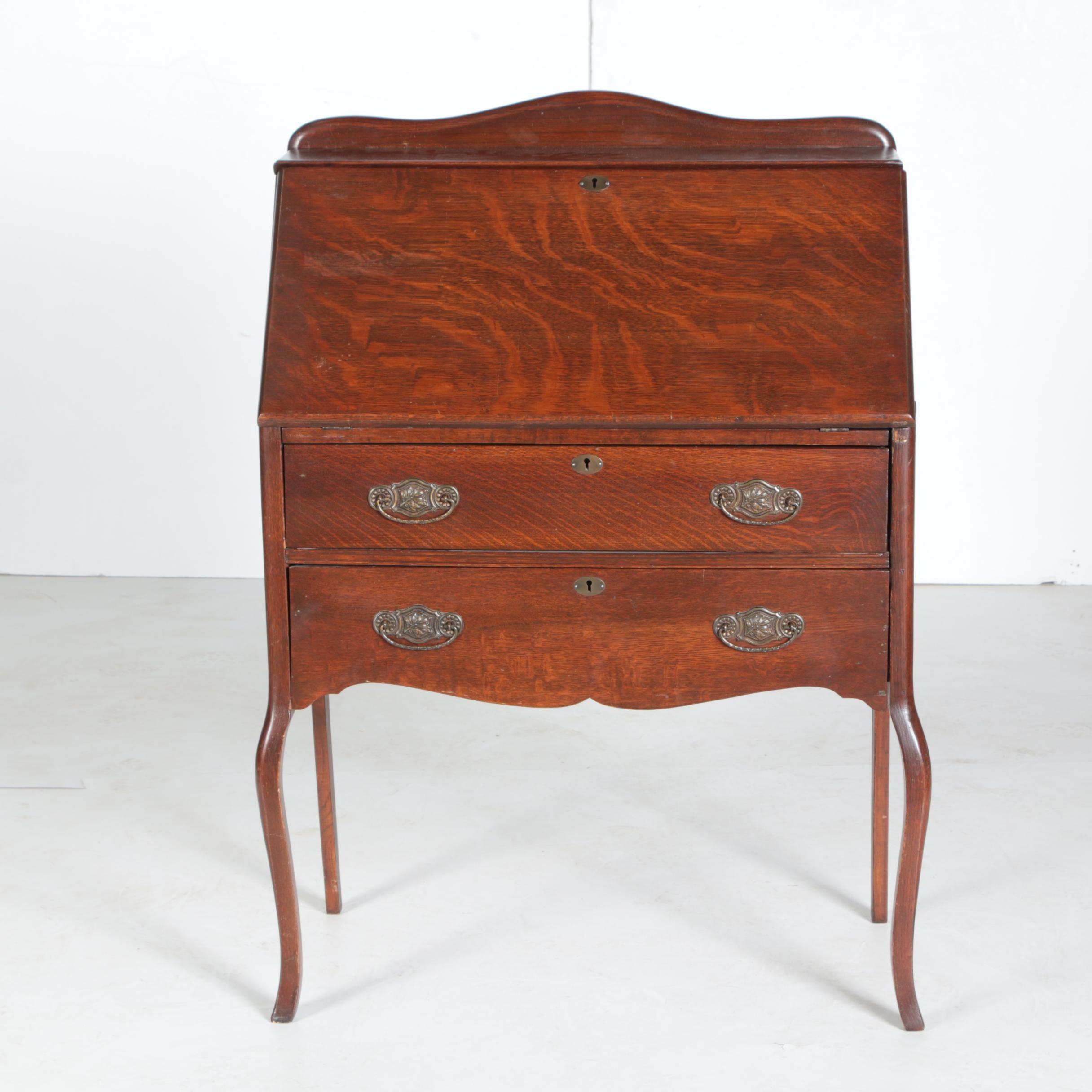Antique Oak Ladies Writing Desk