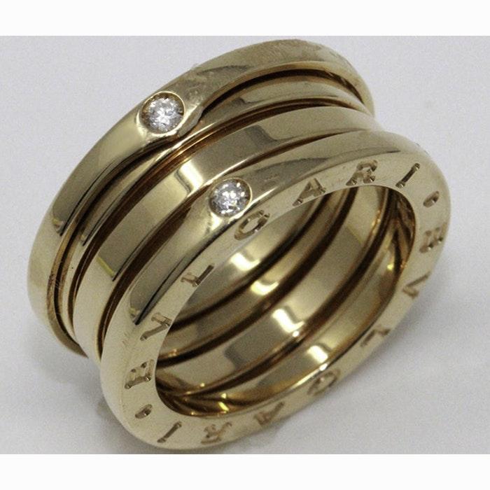 BVLGARI B-Zero1 18K Rose Gold Band with Round Diamonds