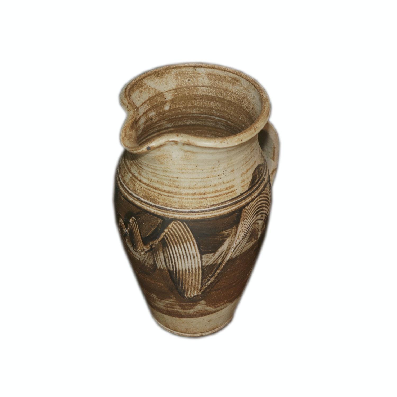 Harding Black Wheel Thrown Stoneware Pitcher