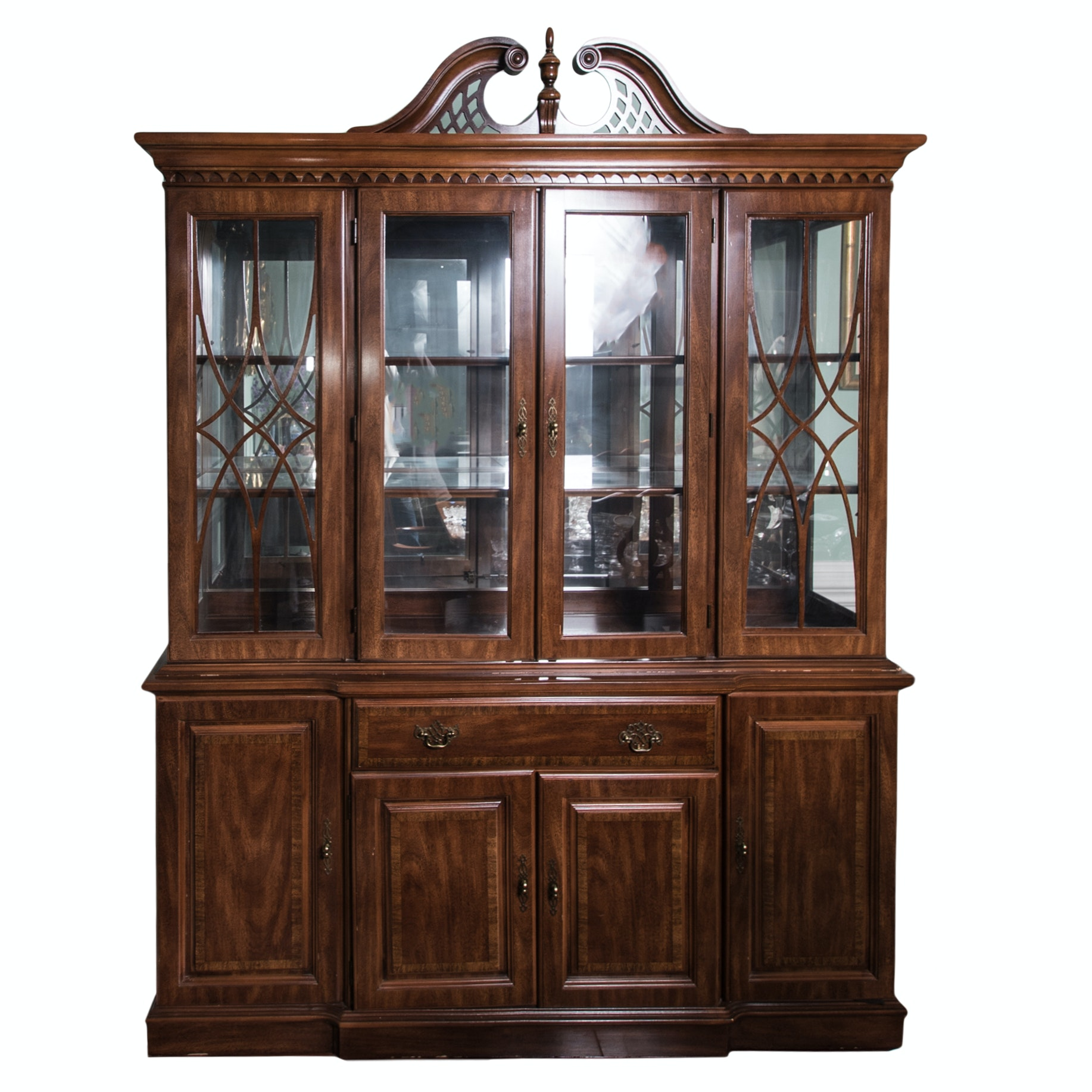 Contemporary Broyhill China Cabinet ...