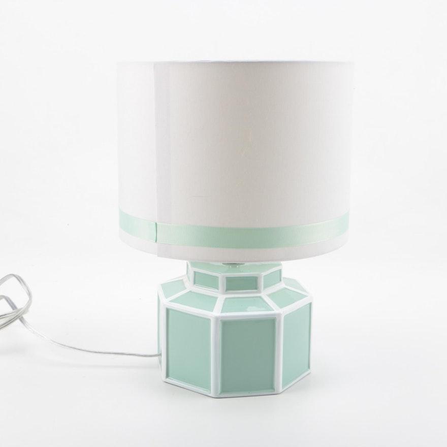 Happy Chic By Jonathan Adler Mint Green Ceramic Table Lamp Ebth