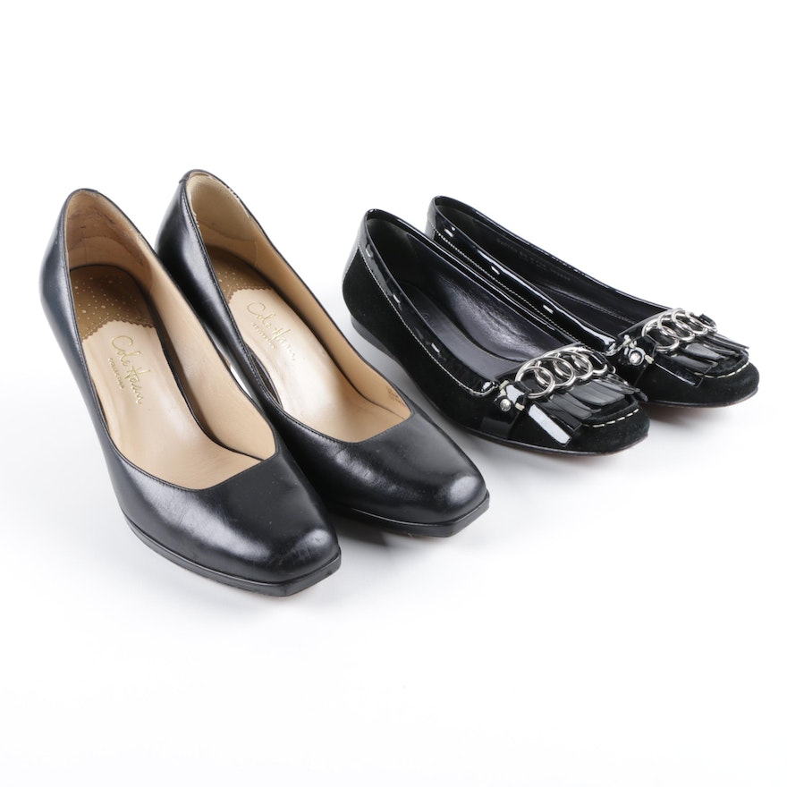 202126b9721 Women s Cole Haan Black Leather Pumps and Black Suede and Leather Loafers    EBTH