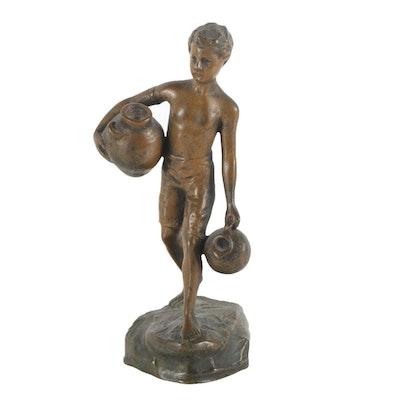 Brass Sculpture After Ruffino Besserdich