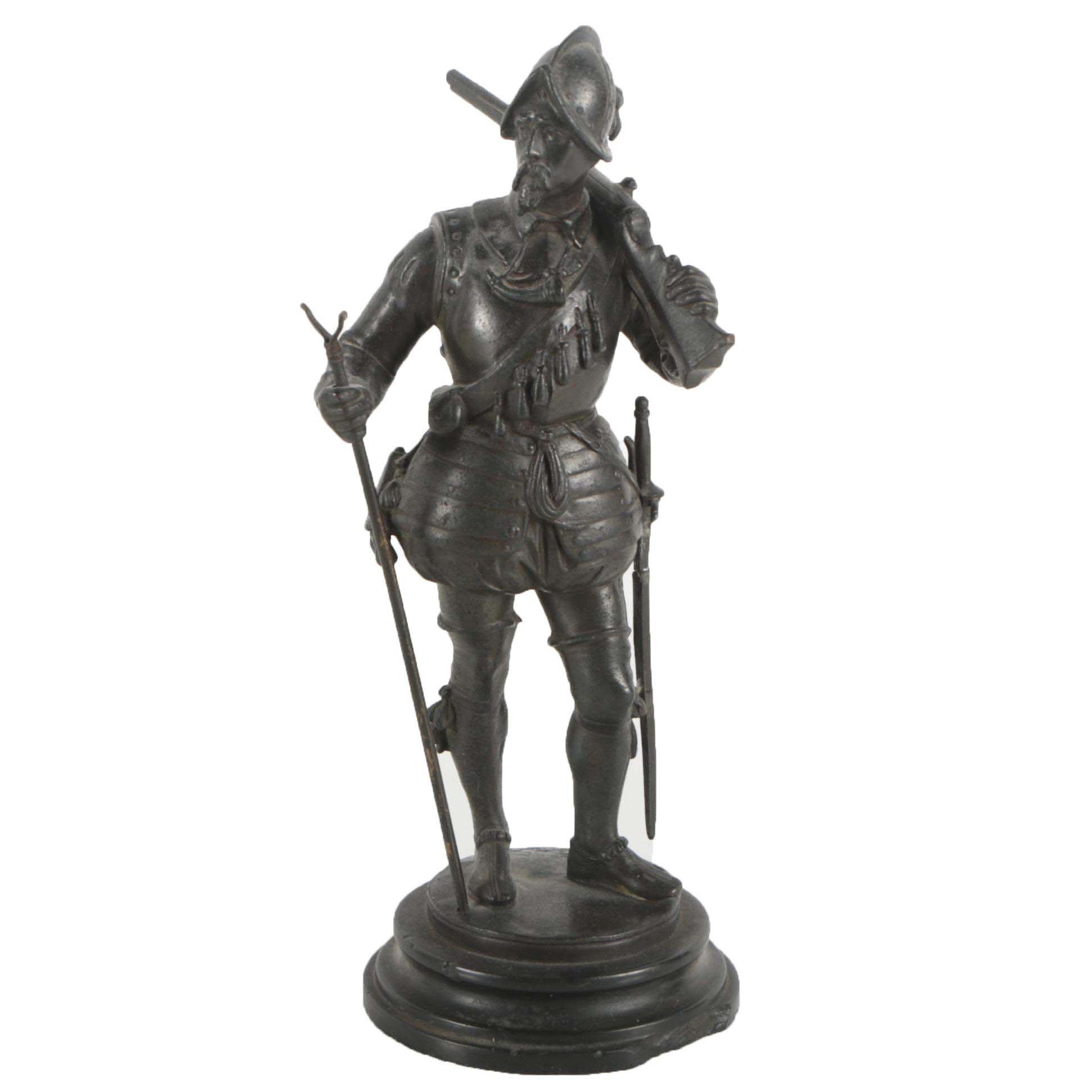 Brass Sculpture of Soldier