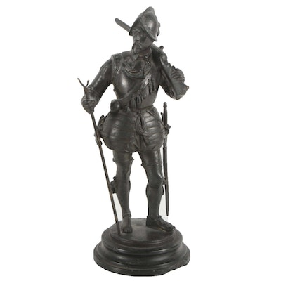 Brass Sculpture of Soldier