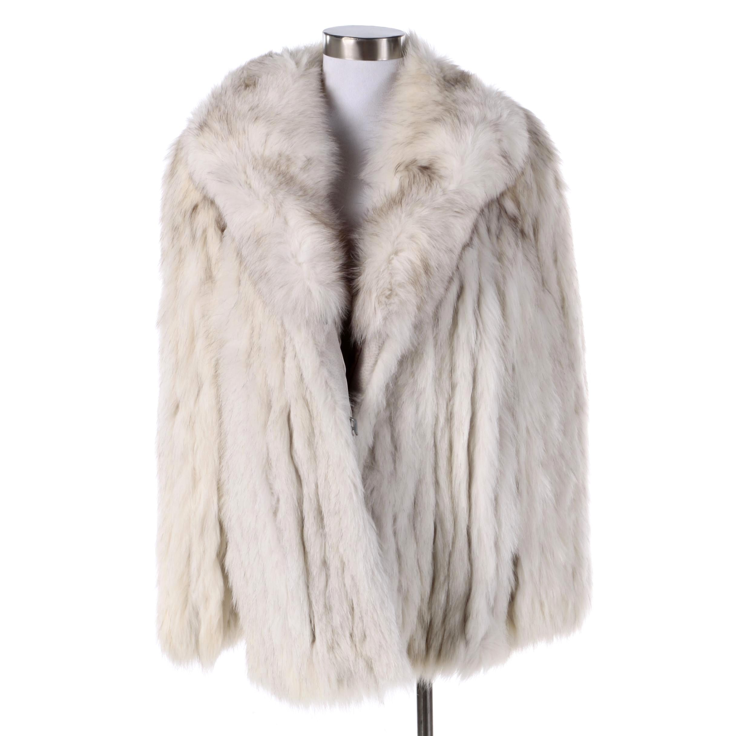 Vintage Blue Fox Fur Coat