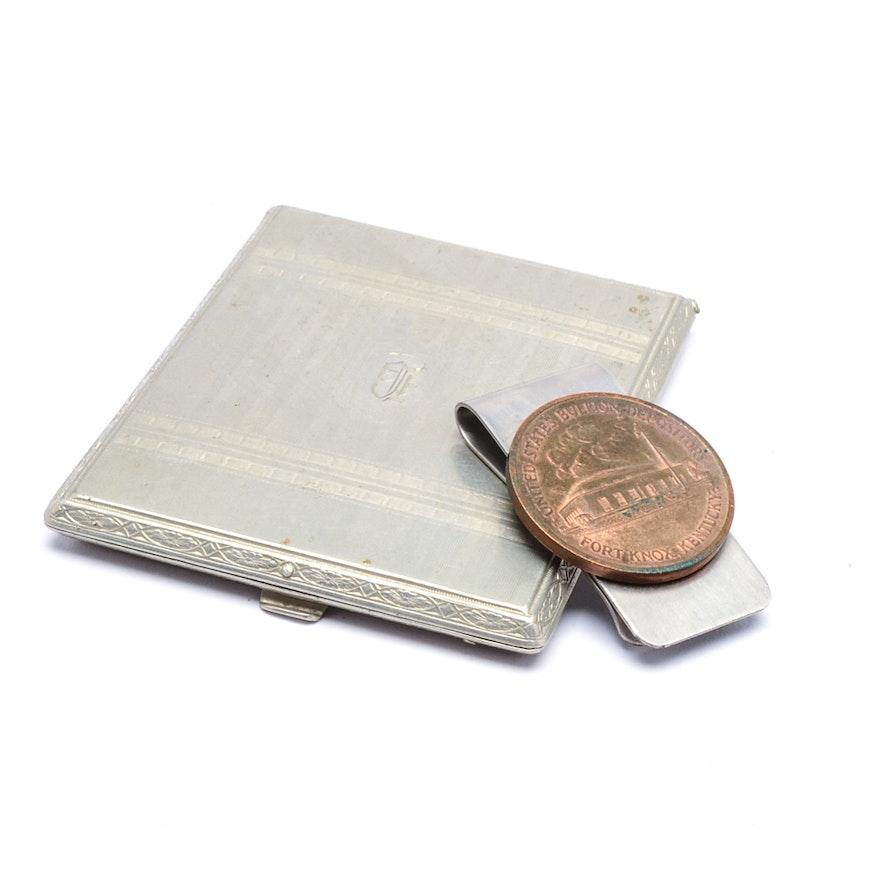 481bbee570b417 Vintage Money Clip and Cigarette Case : EBTH