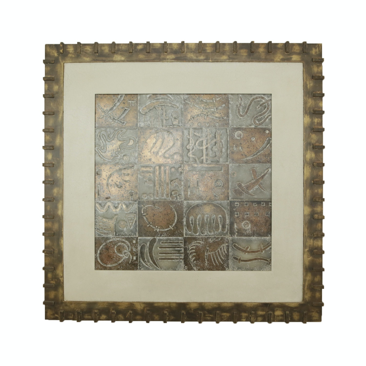 Abstract Embossed Wall Art