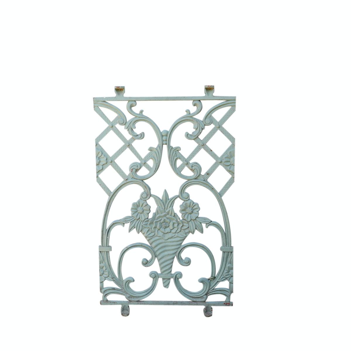 Vintage Decorative Painted Metal Grate