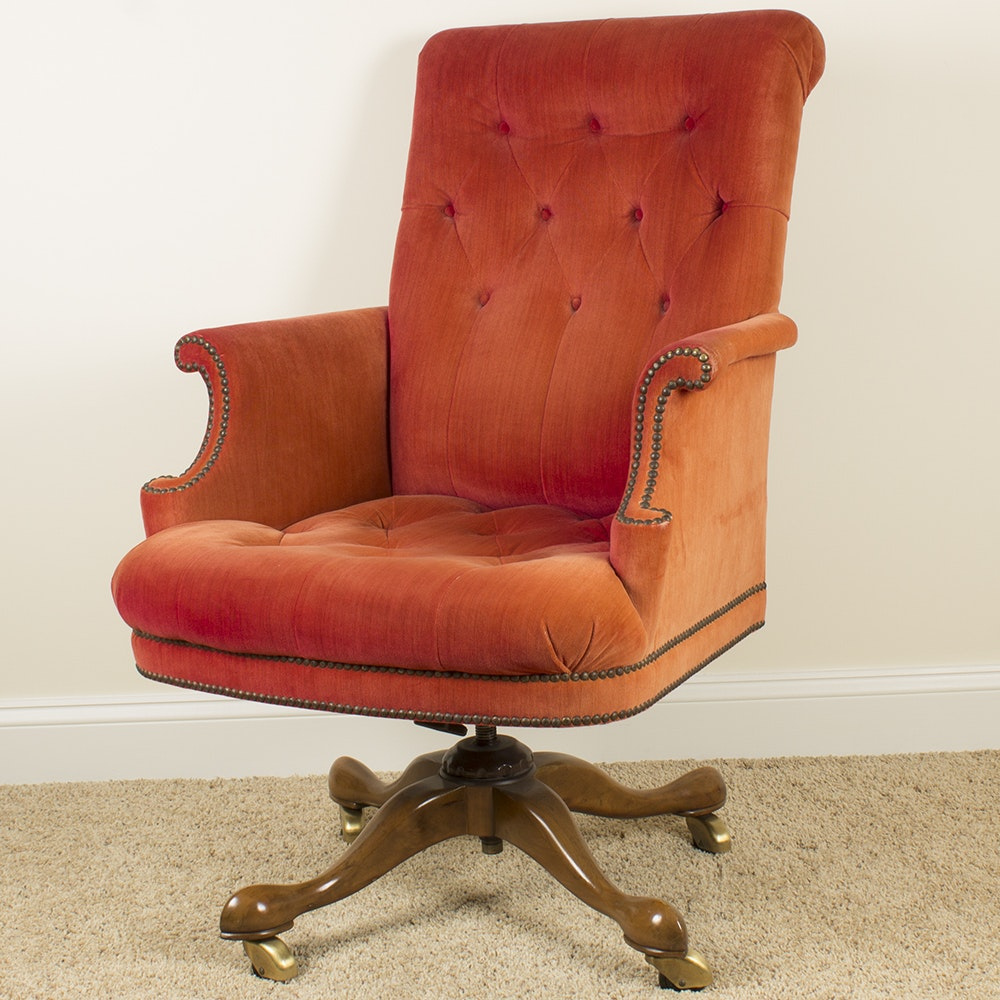Vintage Tufted Desk Chair