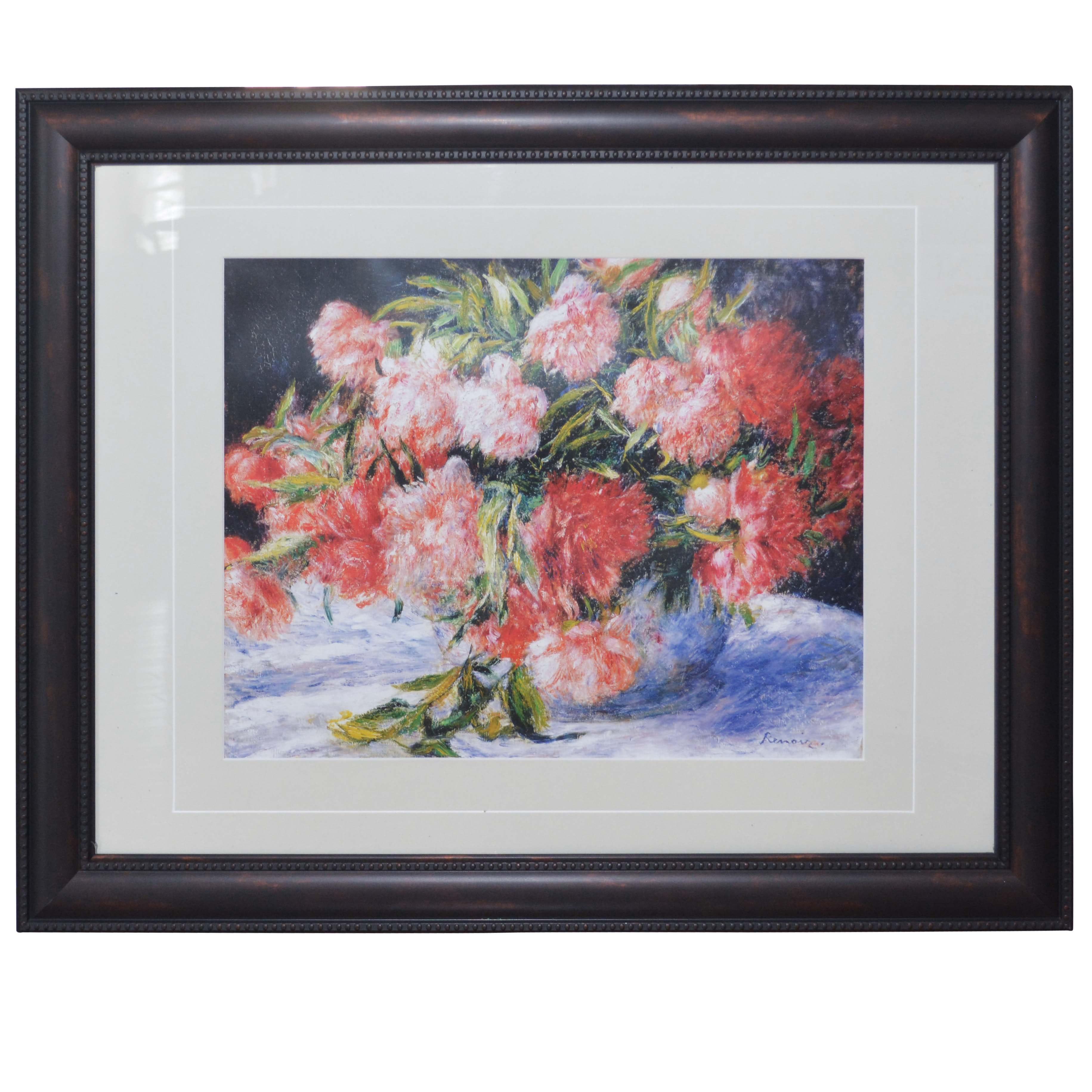 "Reproduction Print After Pierre-Auguste Renoir ""Peonies"""