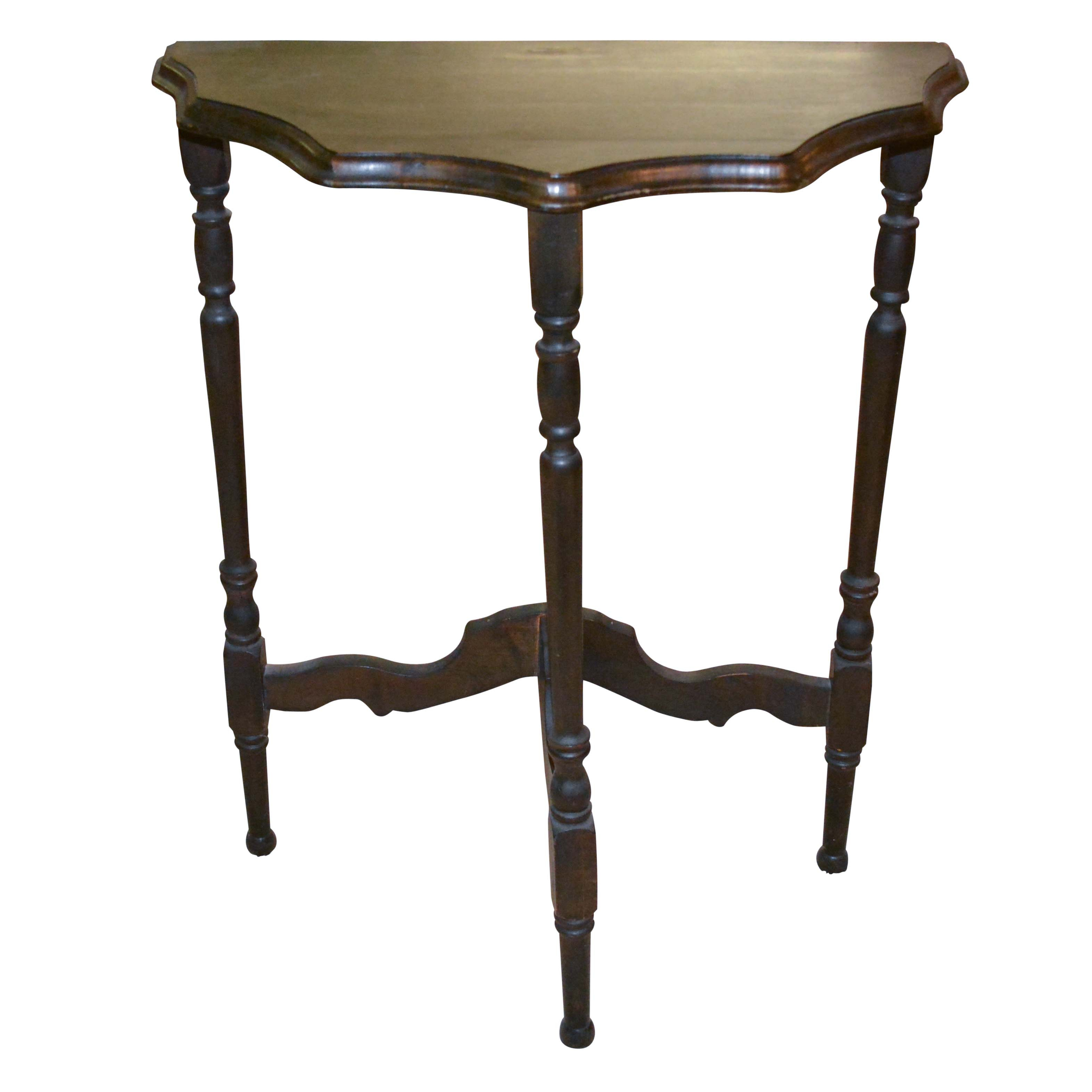 Vintage Demilune Entry Table