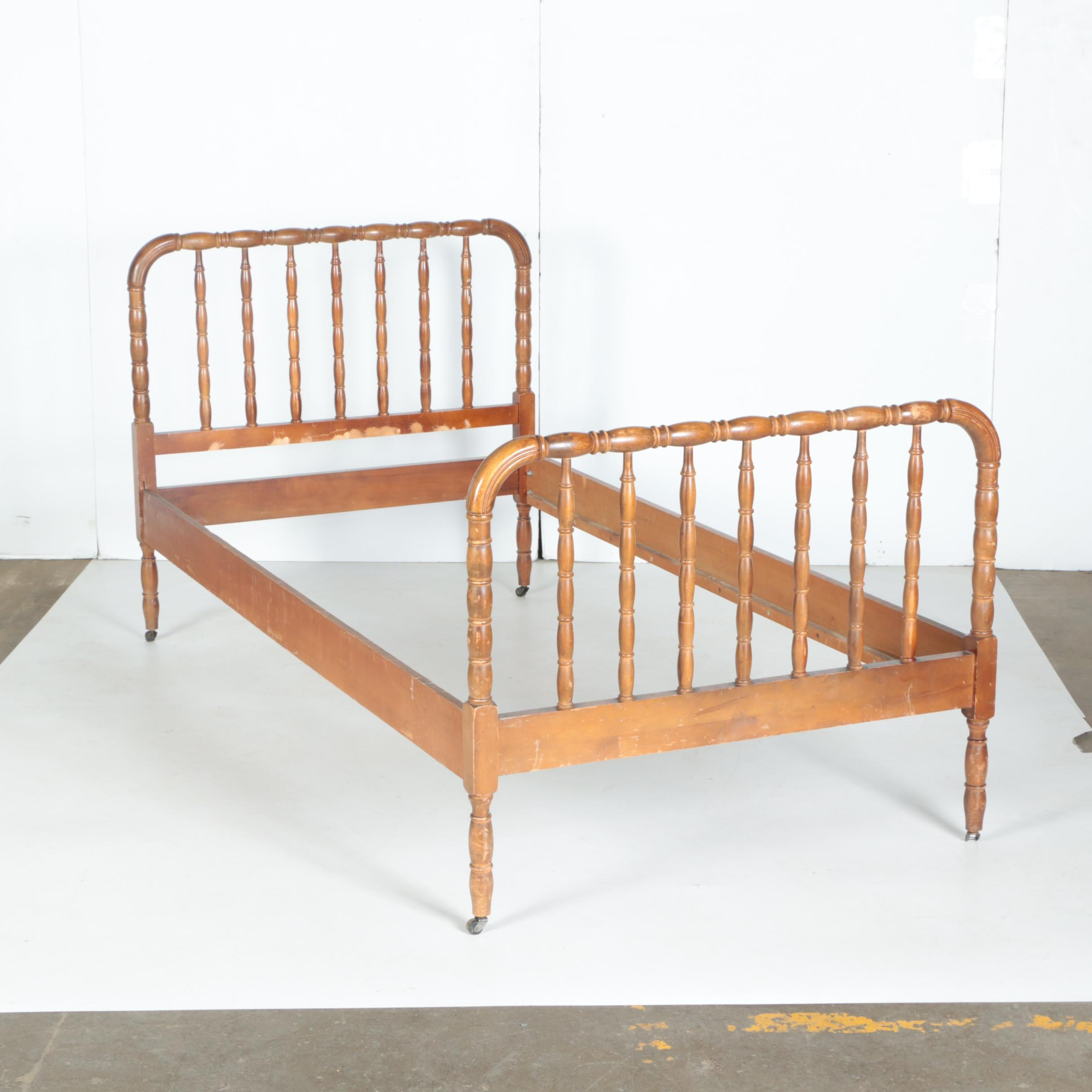 Spool Turned Twin Sized Bed Frame