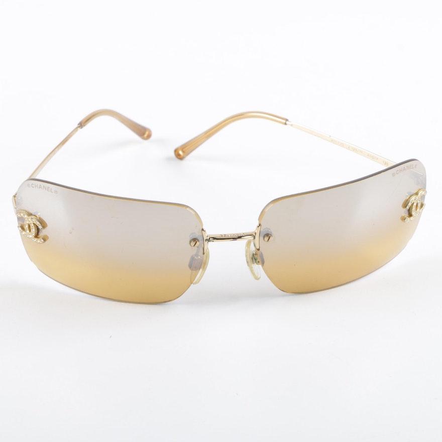 f1d5edbb832e Chanel Rimless Sunglasses | EBTH