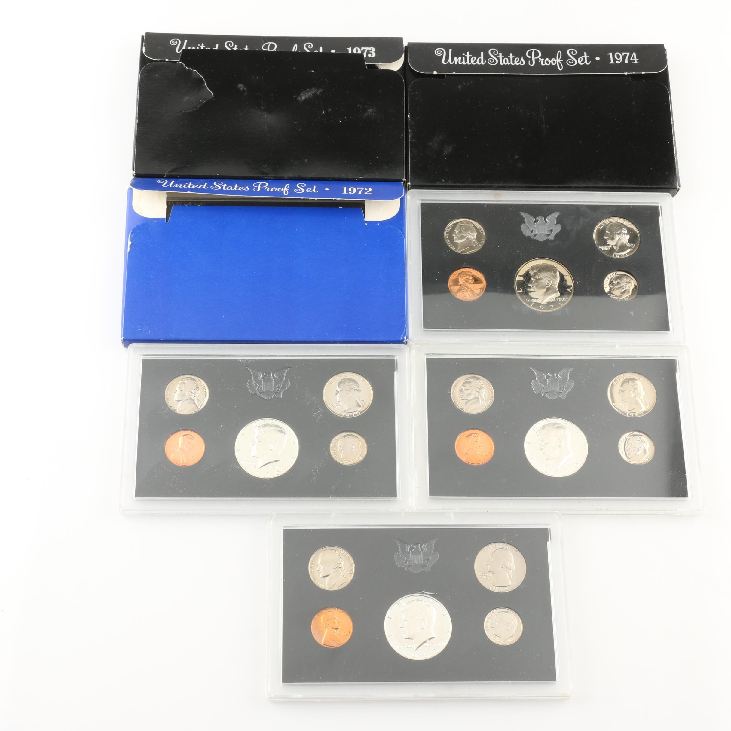 Seven U.S. Mint Proof Sets