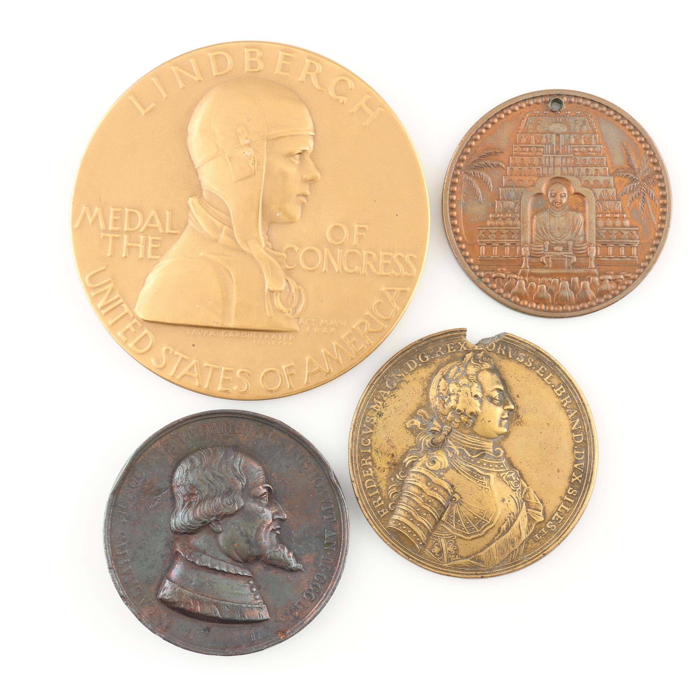 Group of Four Antique to Vintage Commemorative Medals