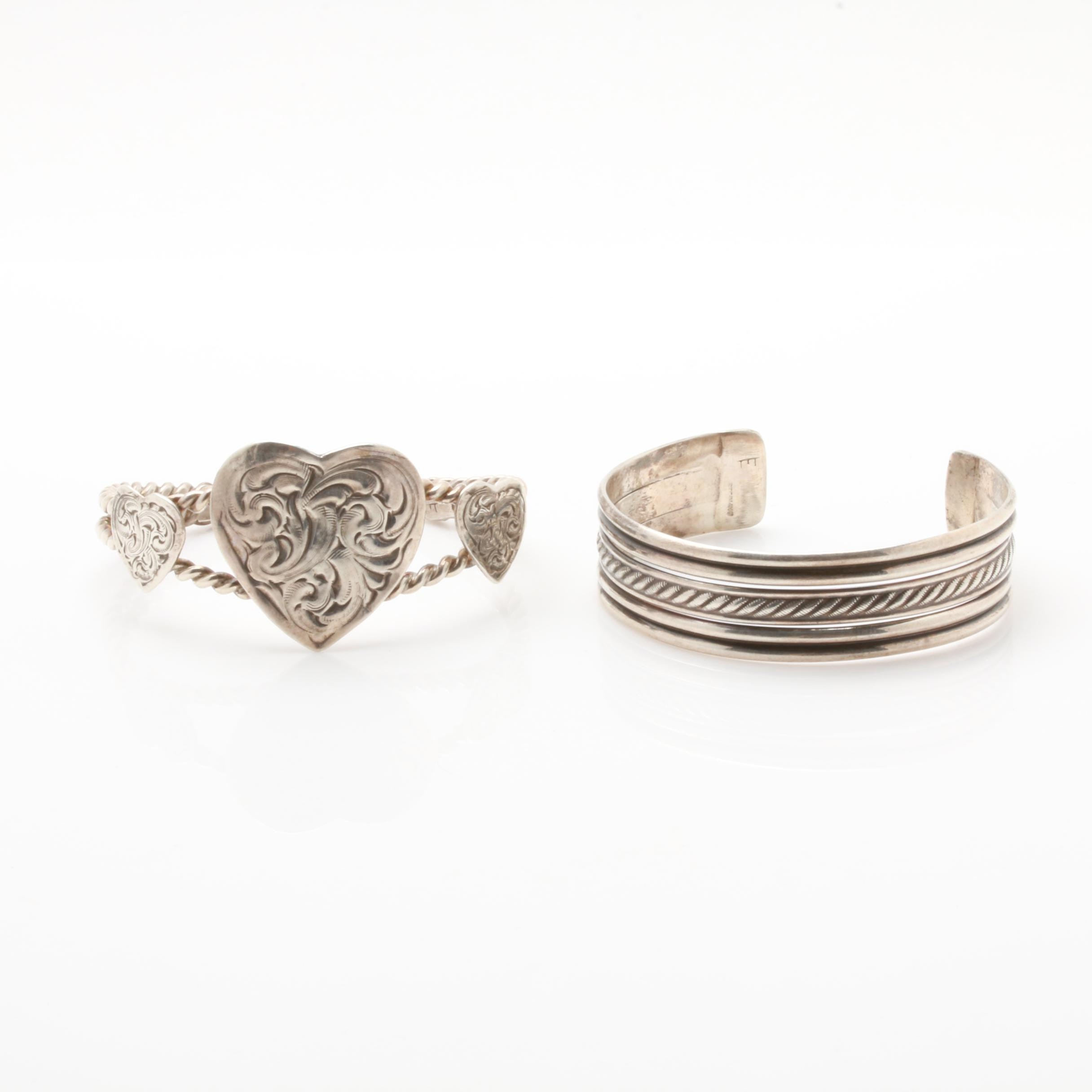 Ella Cowboy Navajo Diné Sterling Silver Cuff Bracelets