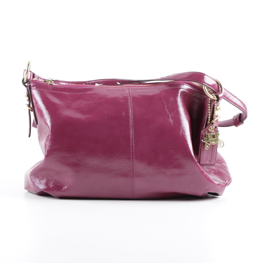 Coach Mia Raspberry Leather Shoulder Bag and Signature Tan Leather Wallet    EBTH 2071cee454