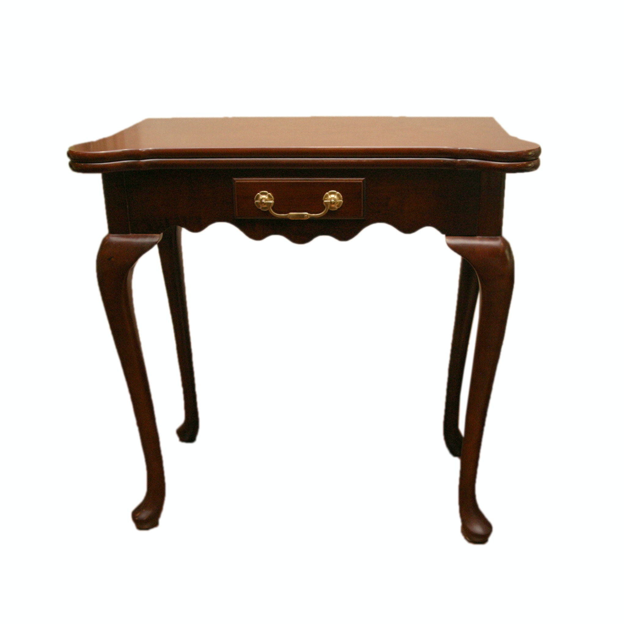 Queen Anne Style Cherry Game Table