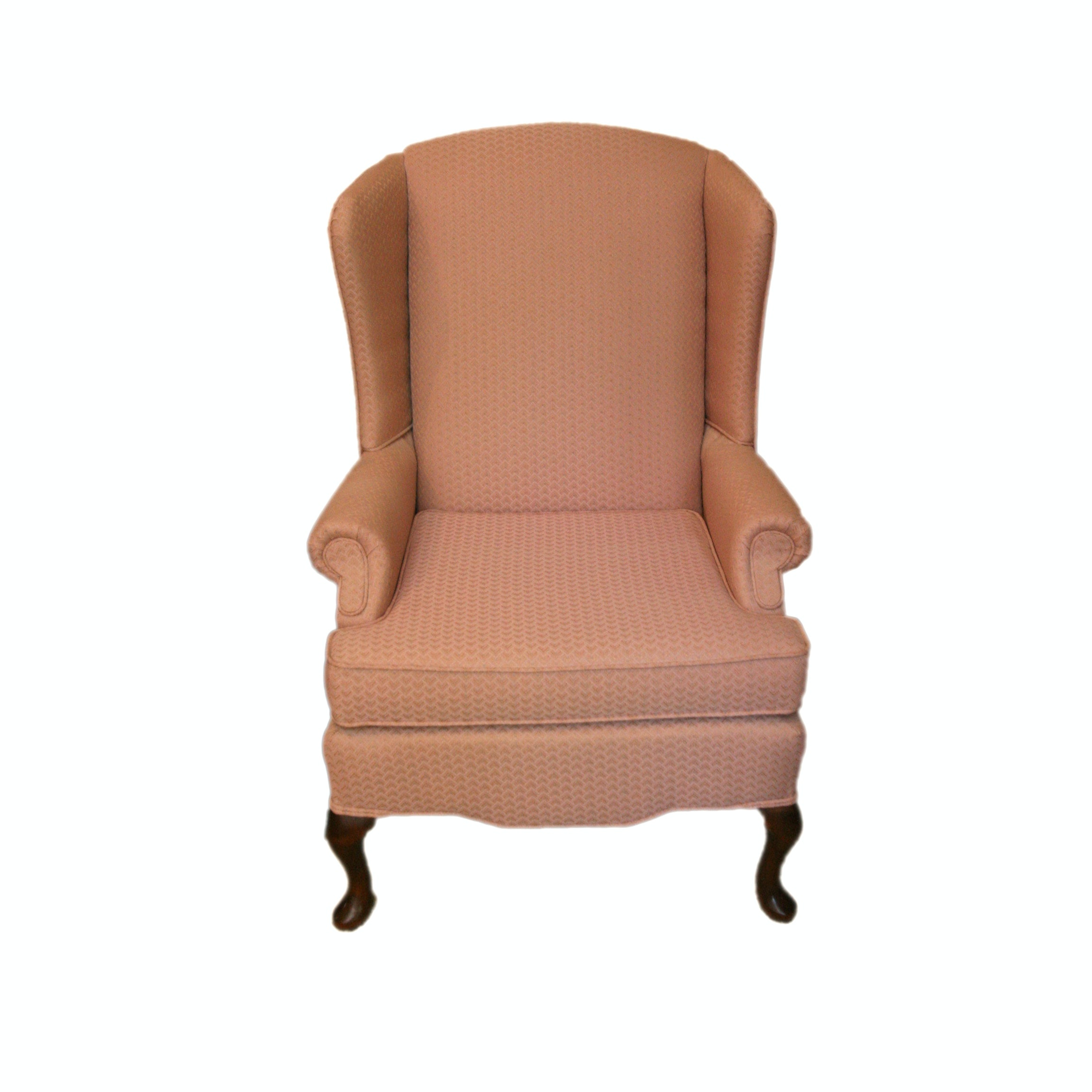 Charming Queen Anne Style Upholstered Wingback Chair By Best Chairs, Inc.