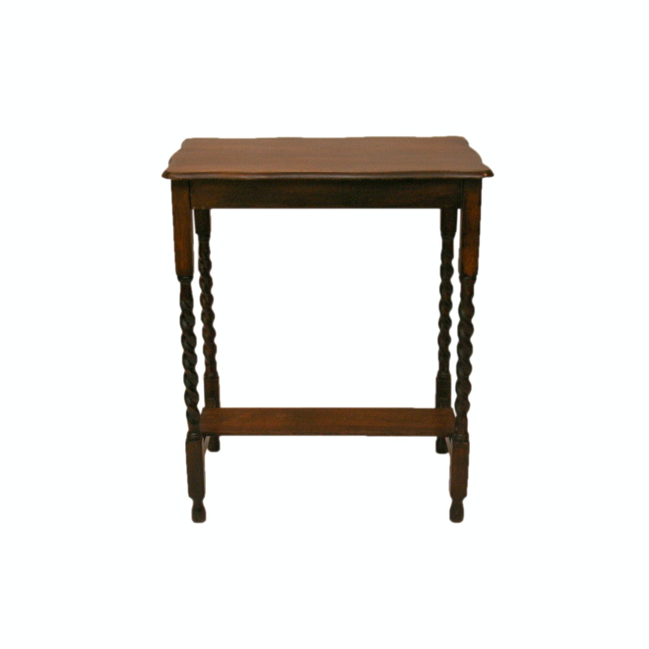 Vintage Jacobean Revival Style Walnut Barley Twist Stand