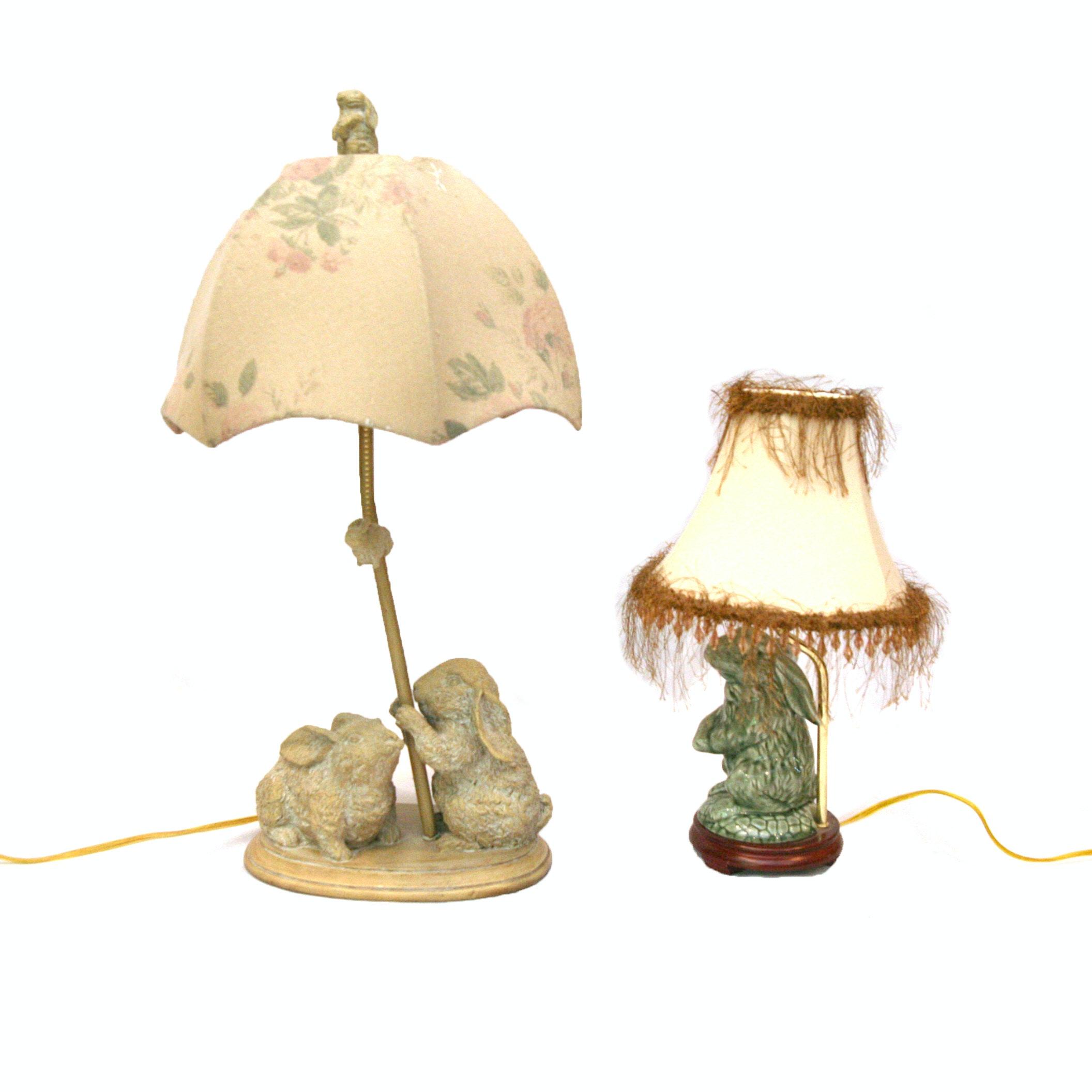 Rabbit Motif Decorative Desk Lamps