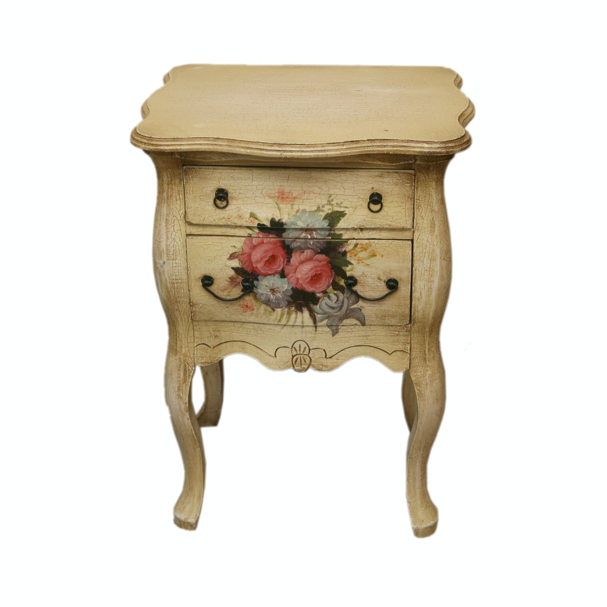 Vintage Provincial Style Painted Accent Table
