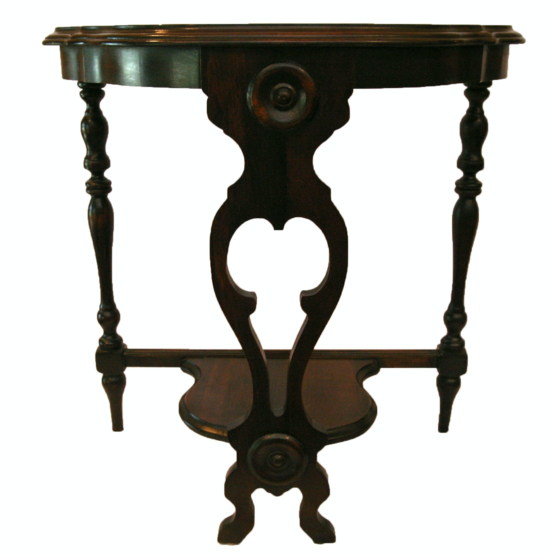 Victorian Mahogany Demilune Table